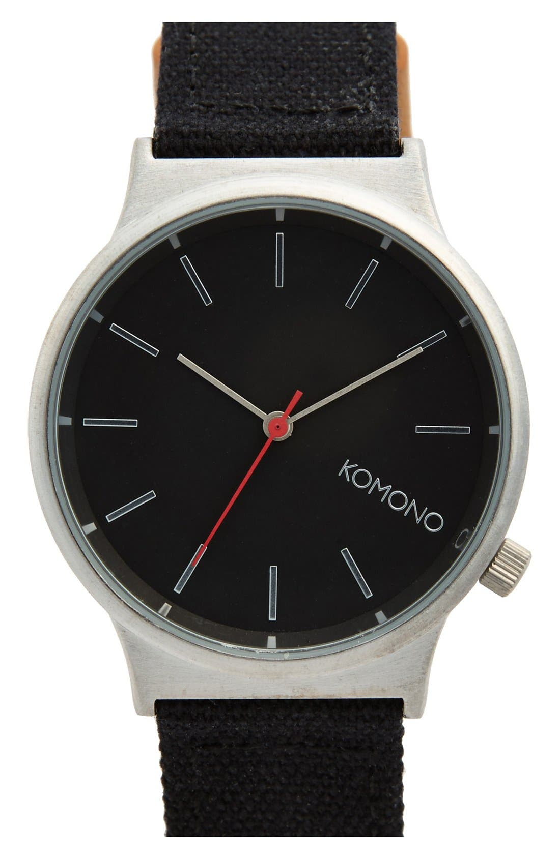 Alternate Image 1 Selected - Komono 'Wizard' Round Dial Strap Watch, 45mm