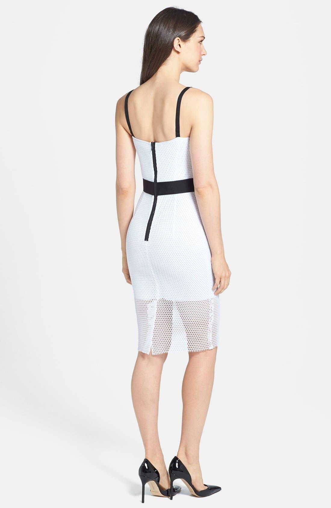 Alternate Image 2  - Milly Mesh & Techno Body-Con Dress