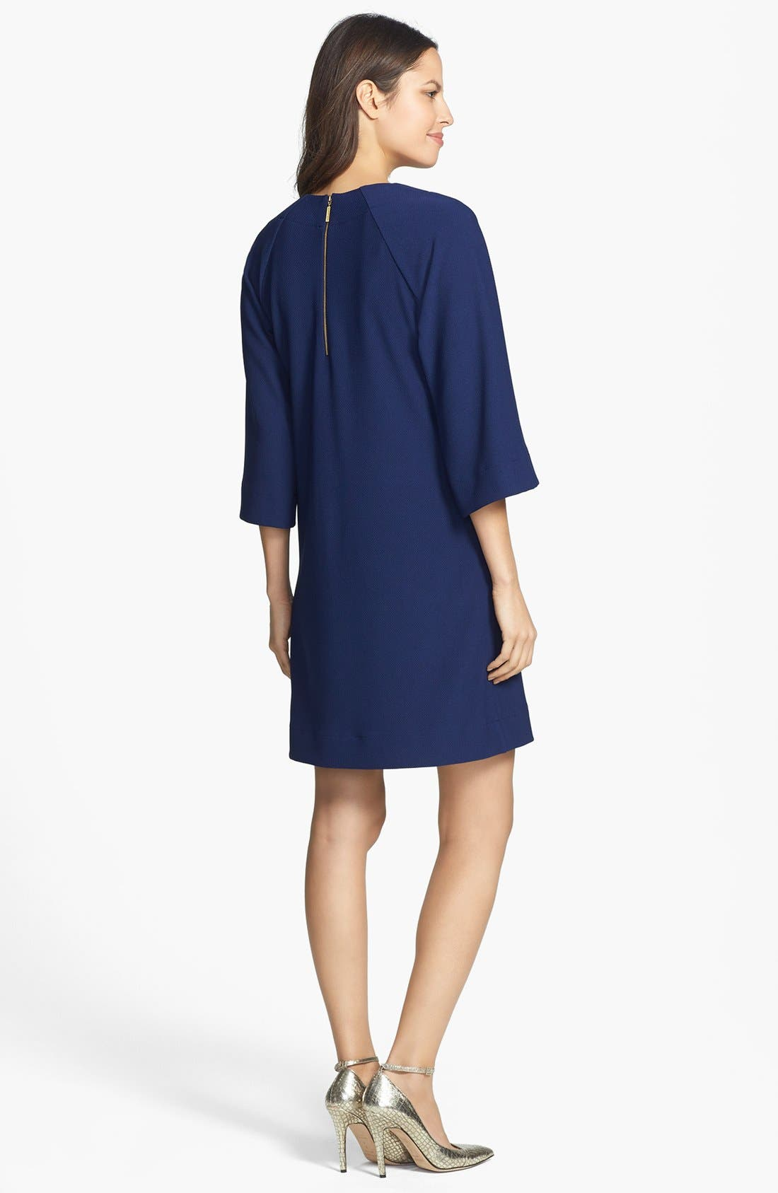 Alternate Image 3  - Donna Ricco Ottoman Piqué Shift Dress