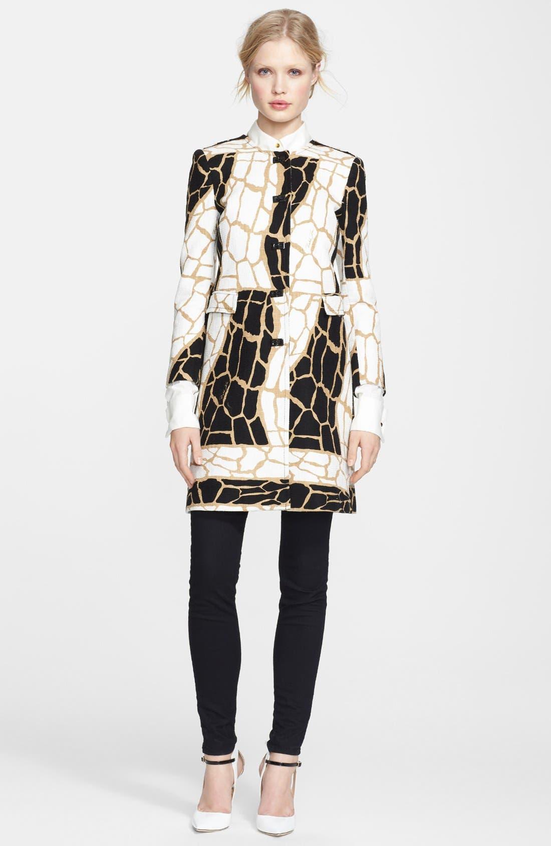 Alternate Image 1 Selected - Rachel Zoe 'Mena' Giraffe Print Coat
