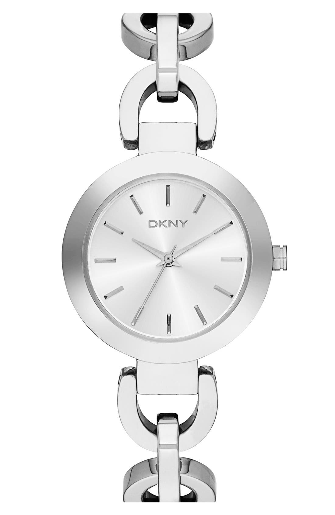Alternate Image 1 Selected - DKNY 'Stanhope' Chain Link Bracelet Watch, 28mm