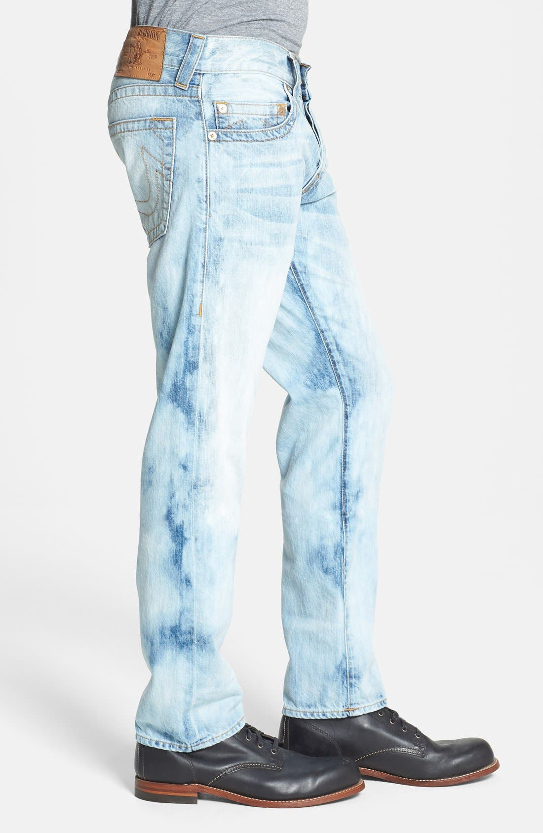 Alternate Image 3  - True Religion Brand Jeans 'Geno' Straight Leg Jeans (YLL Antelope)