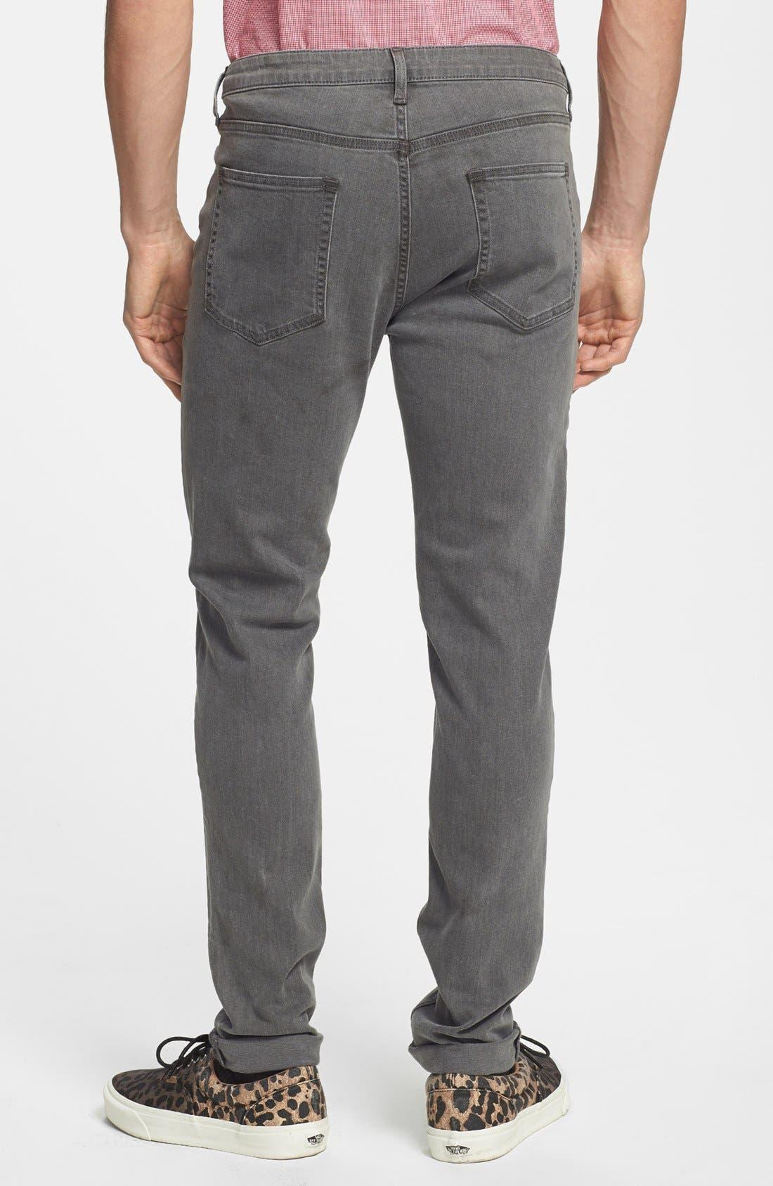 Alternate Image 2  - Topman Stretch Skinny Fit Stretch Jeans (Grey)