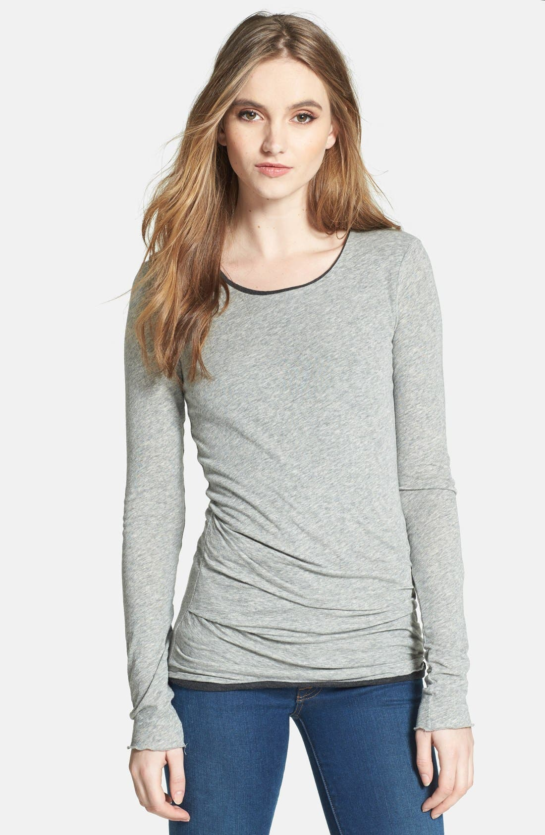 Alternate Image 1 Selected - James Perse Double Layer Tucked Tee
