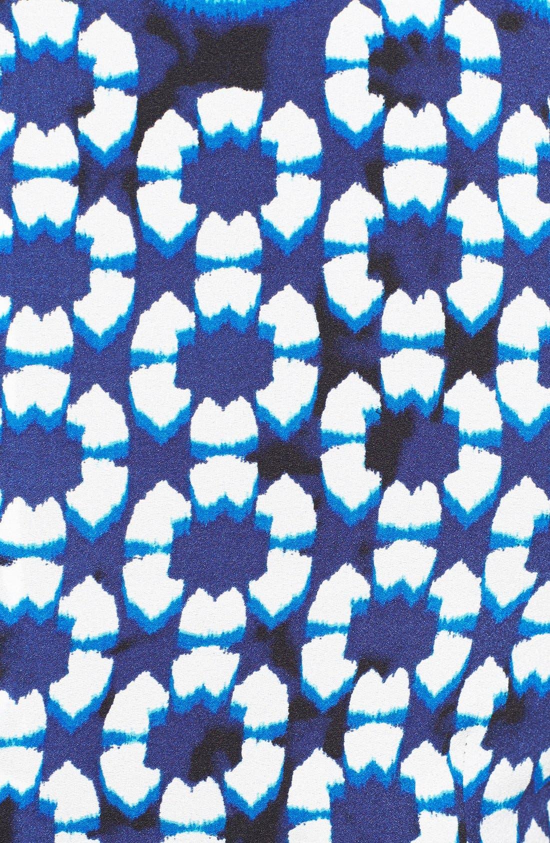 Alternate Image 3  - Adrianna Papell Ikat Print Pleat Fit & Flare Dress (Plus Size)