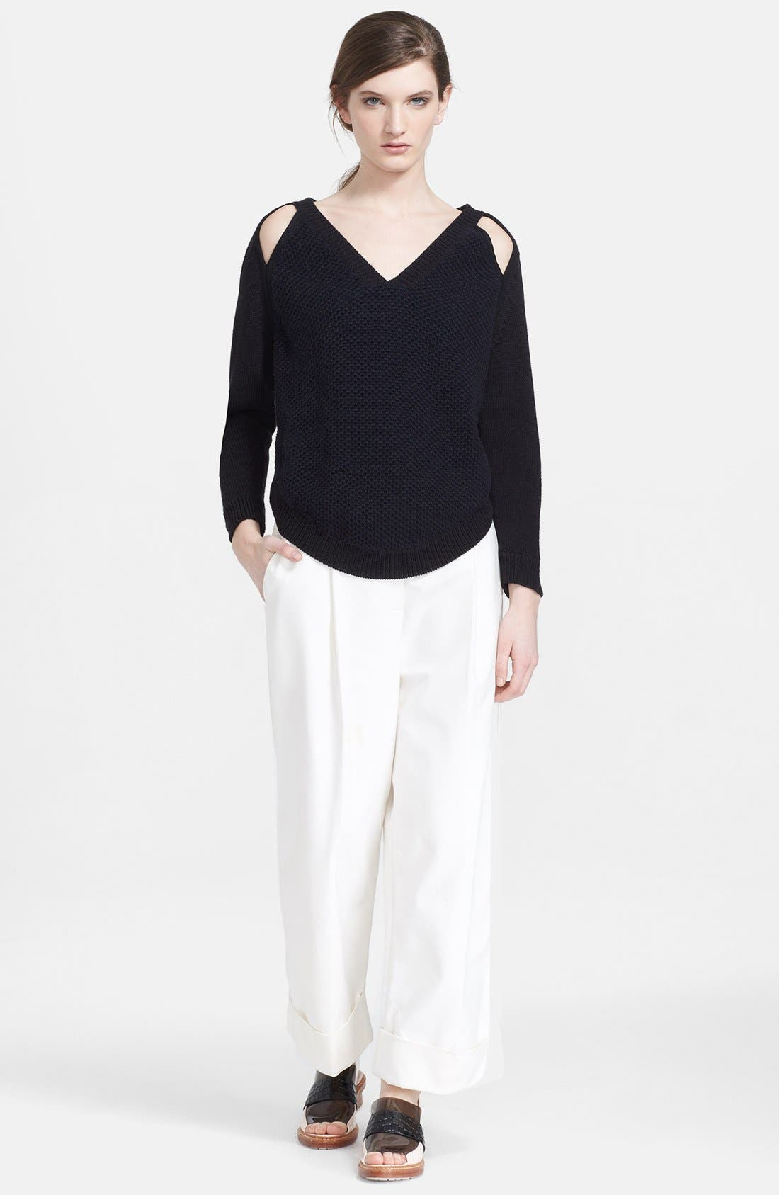 Alternate Image 3  - 3.1 Phillip Lim Two-Tone Slit Shoulder V-Neck Pullover