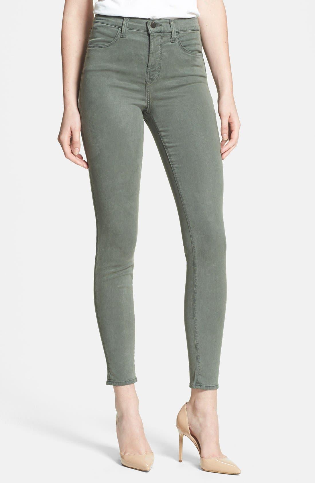 Main Image - J Brand 'Maria 2311' High Rise Skinny Jeans (Sprucestone)