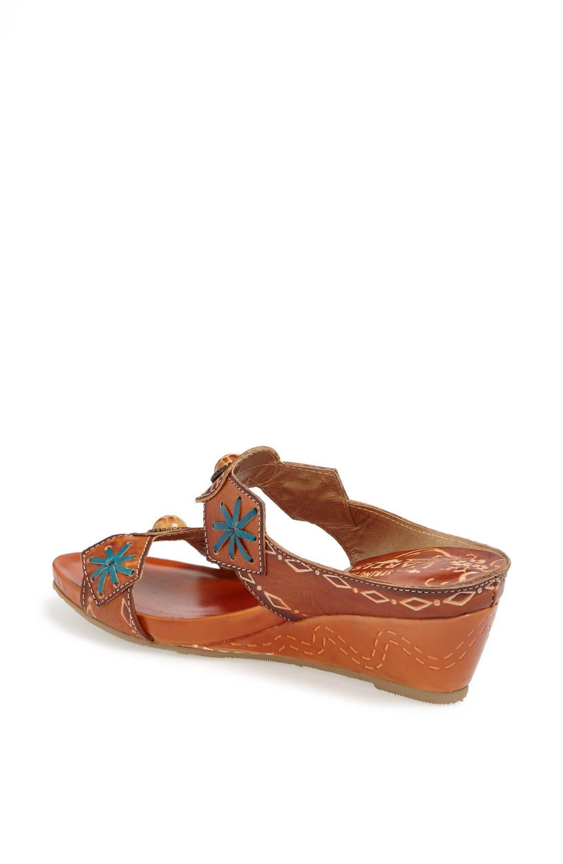 Alternate Image 2  - Spring Step 'Sesame' Leather Wedge Sandal
