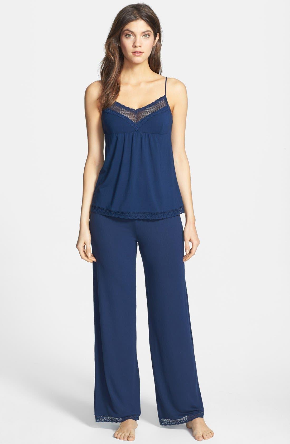 Alternate Image 3  - Eberjey 'Gisele' Lace Jersey Pajama Pants