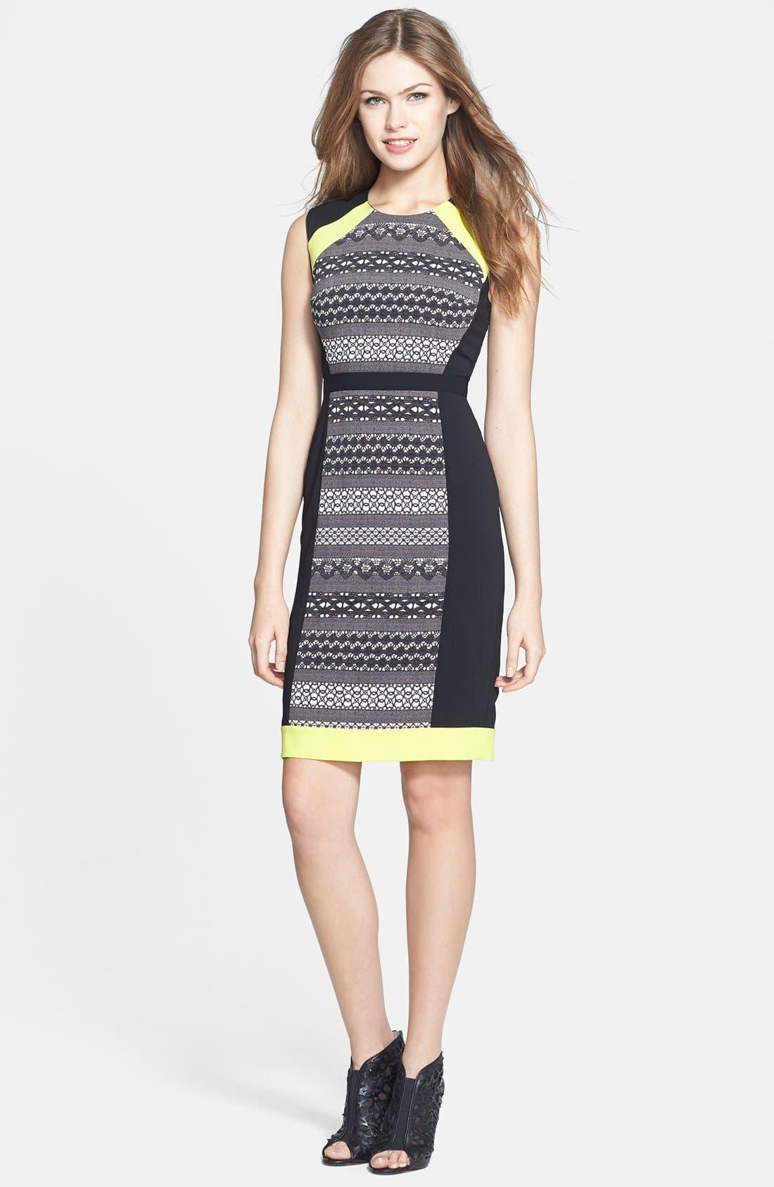 Alternate Image 1 Selected - BCBGMAXAZRIA 'Eileen' Stretch Crepe Sheath Dress