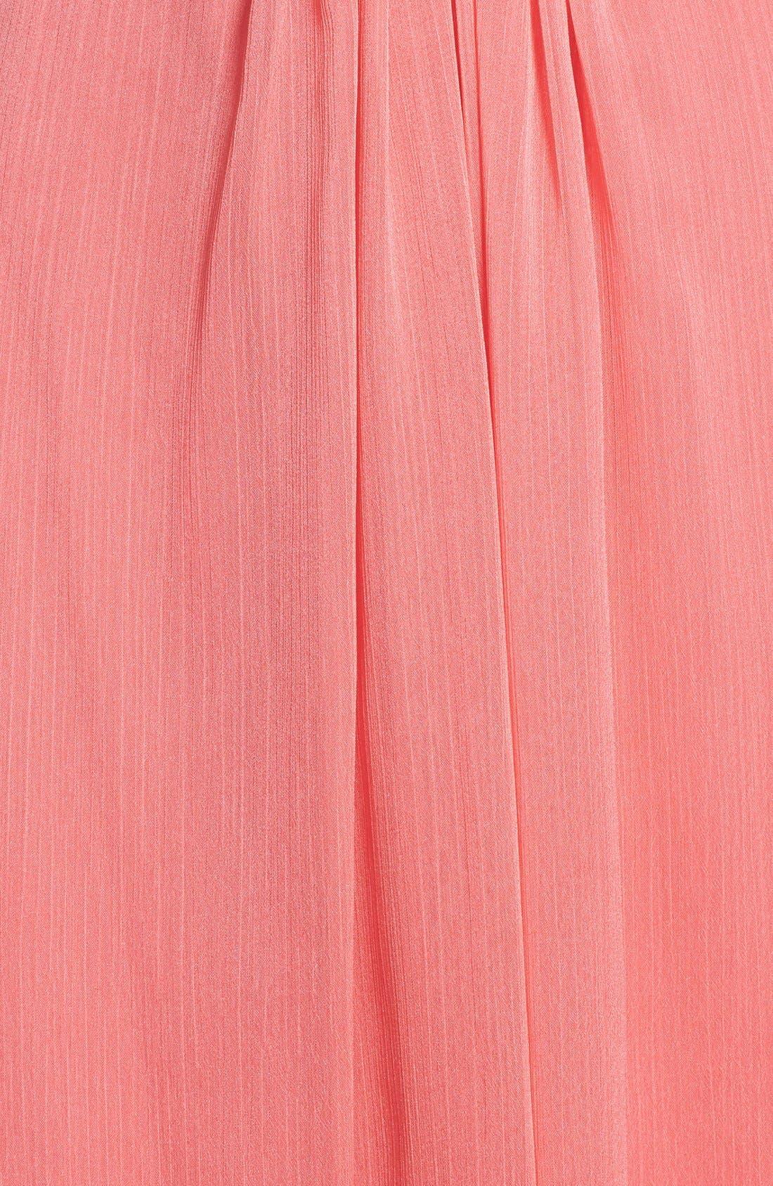 Alternate Image 3  - Aidan by Aidan Mattox Embellished Cutout Crinkled Chiffon Gown