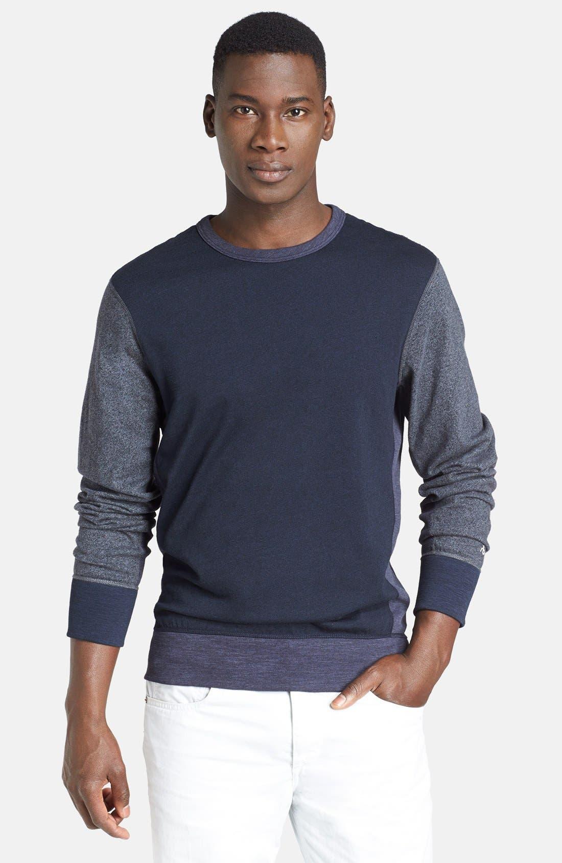 Alternate Image 1 Selected - rag & bone Colorblock Flame Jersey Crewneck Sweatshirt
