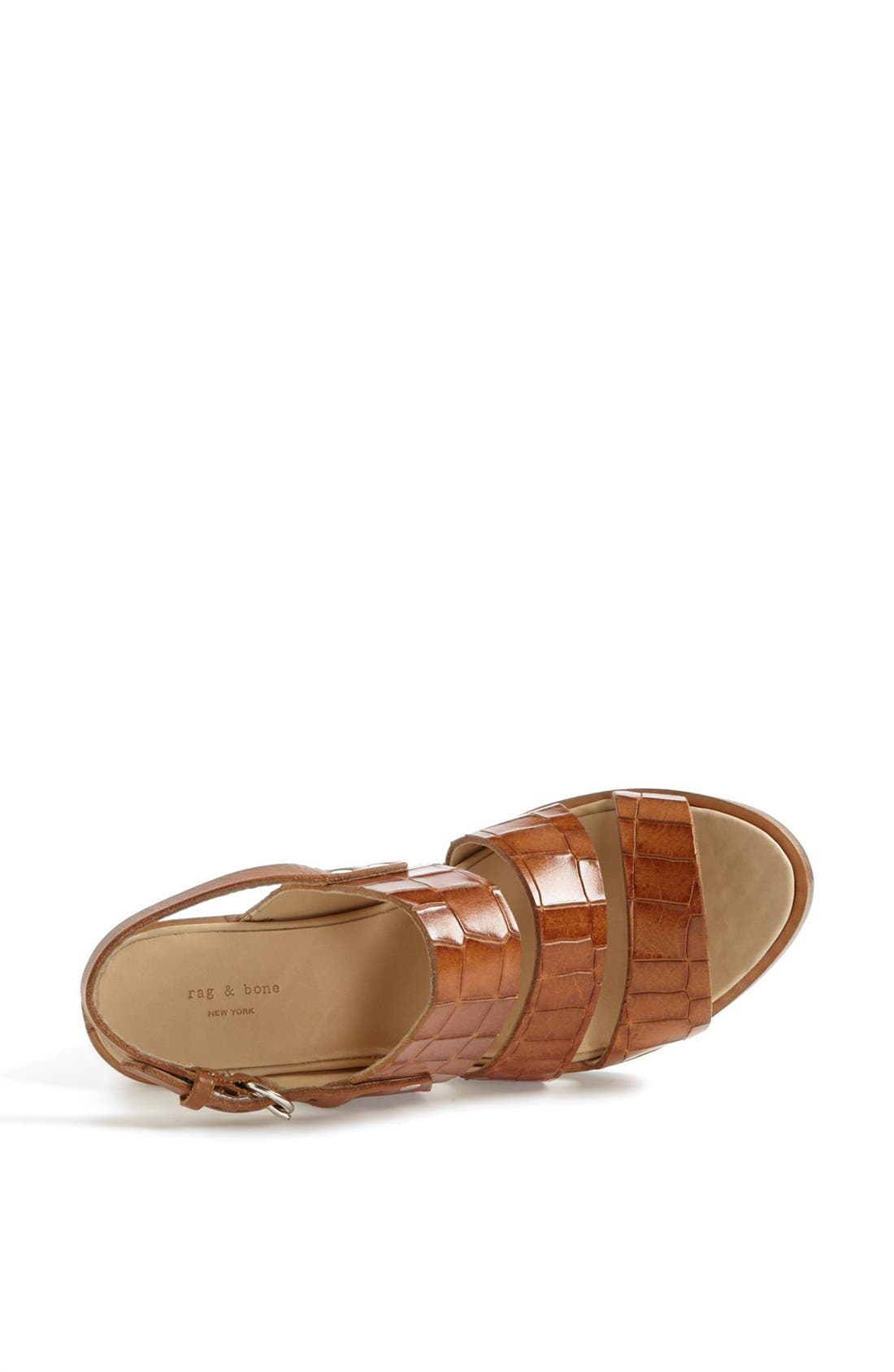 Alternate Image 3  - rag & bone 'Folsom' Croc Embossed Sandal (Online Only)
