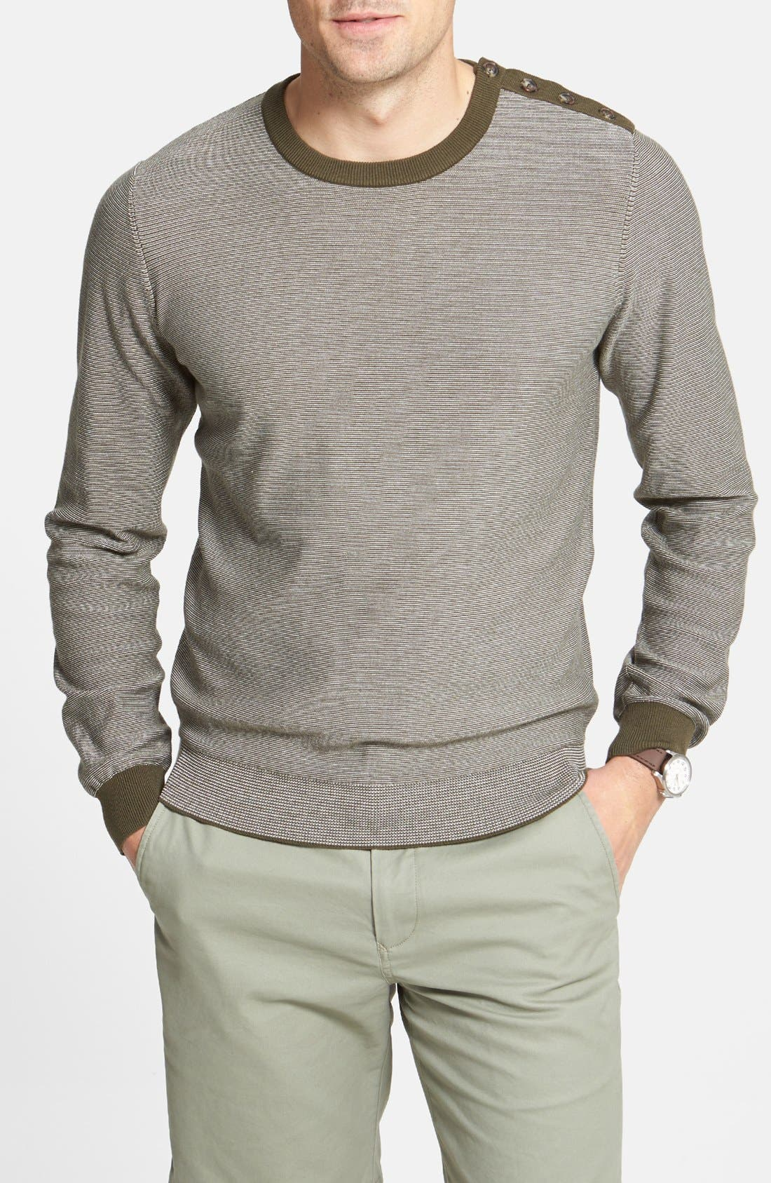 Alternate Image 1 Selected - Façonnable Stripe Crewneck Sweater