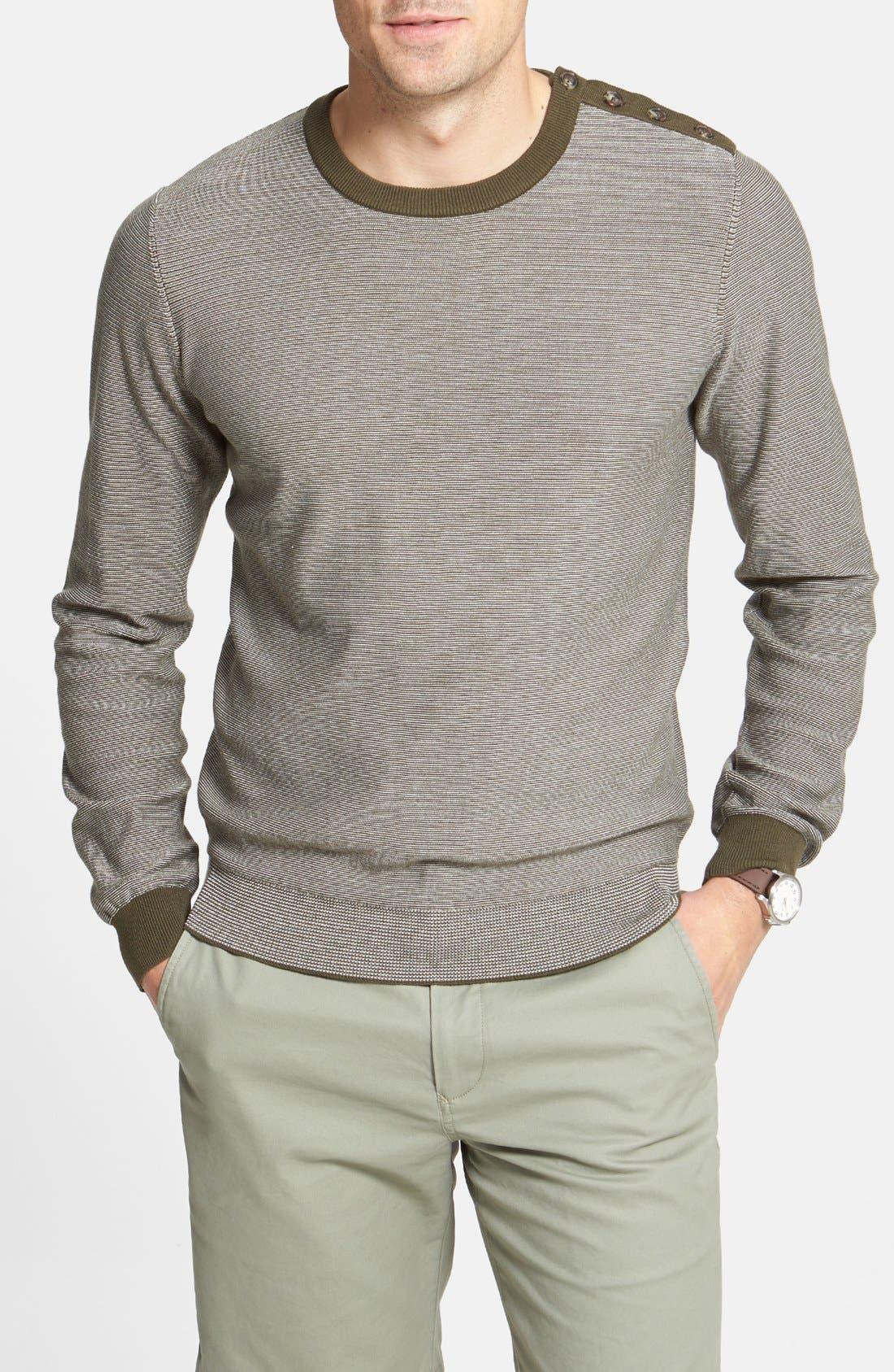 Main Image - Façonnable Stripe Crewneck Sweater