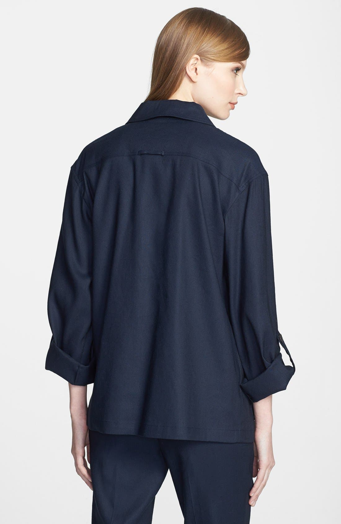 Alternate Image 2  - Lafayette 148 New York 'Toby' Linen Blend Jacket