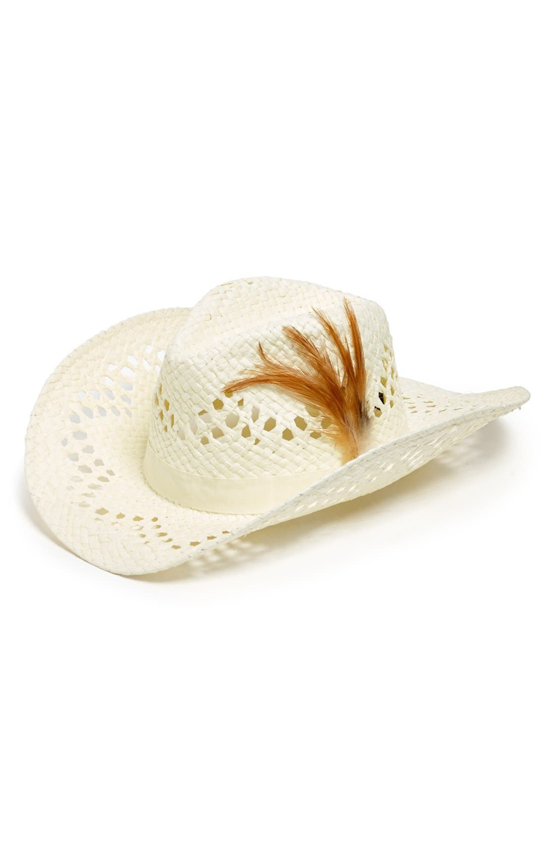 Alternate Image 1 Selected - David & Young Open Weave Cowboy Hat (Juniors) (Online Only)
