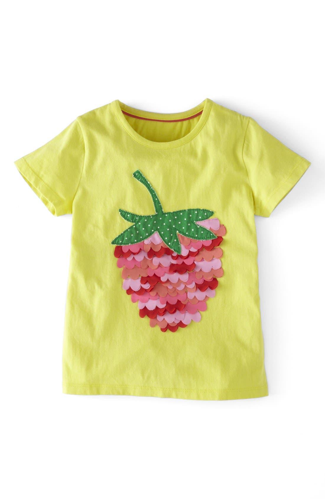Main Image - Mini Boden Ruffle Appliqué Tee (Little Girls & Big Girls)