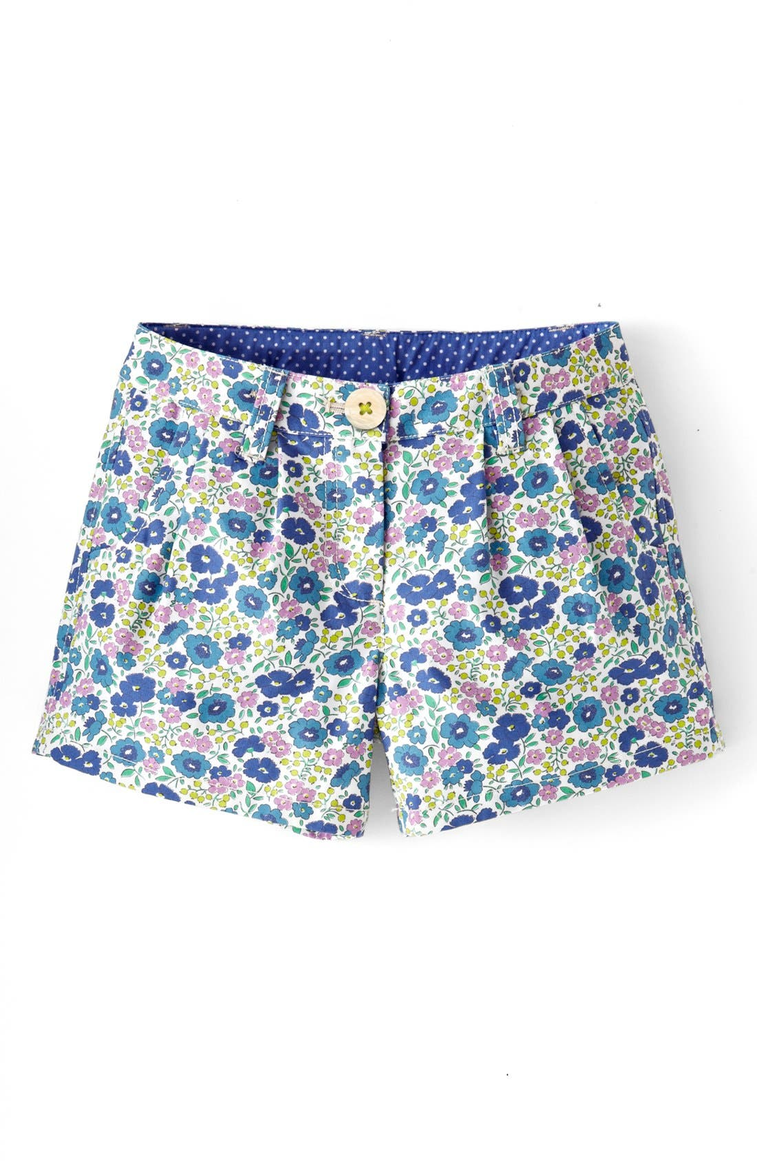 Alternate Image 1 Selected - Mini Boden 'Amalfi' Cotton Shorts (Little Girls & Big Girls)