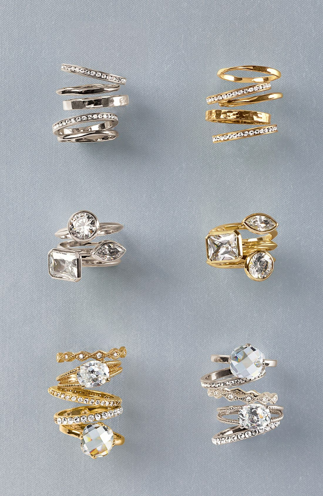 Alternate Image 3  - Ariella Collection Mixed Stackable Rings (Set of 5)