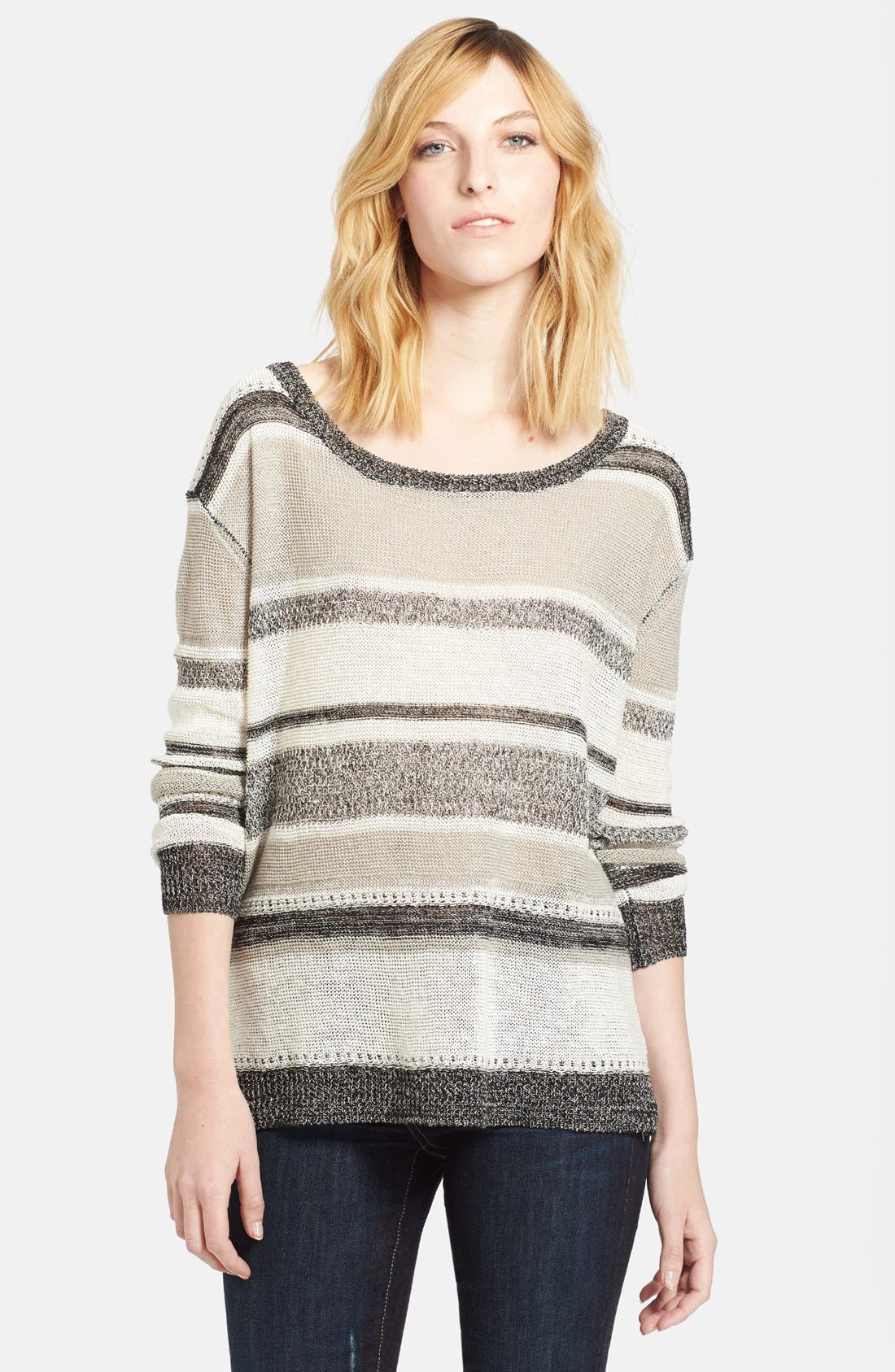 Main Image - Enza Costa Linen Knit Sweater