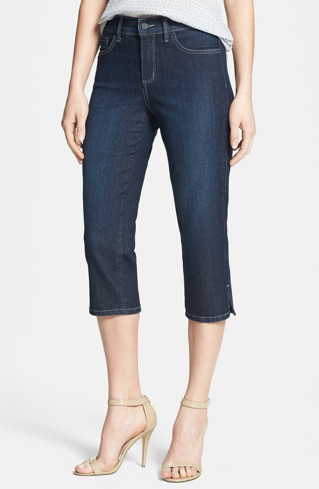 Alternate Image 1 Selected - NYDJ 'Hayden' Stretch Crop Jeans (Hollywood)