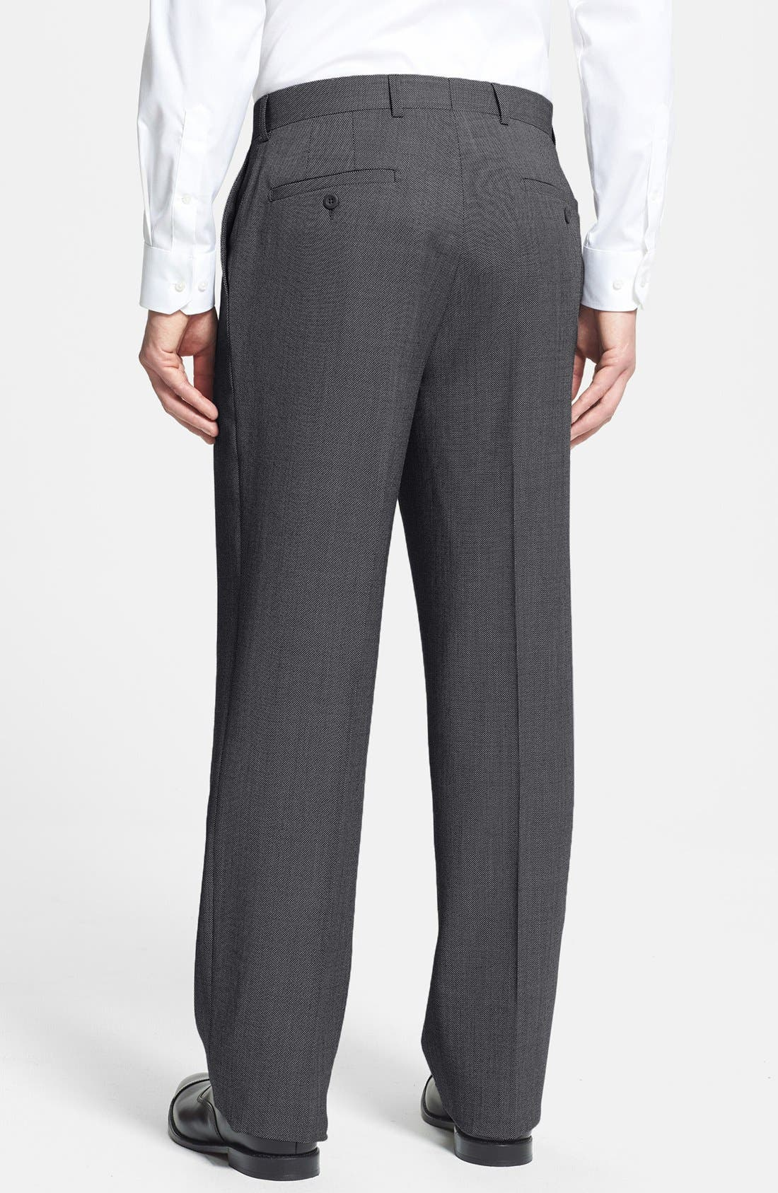Alternate Image 2  - Linea Naturale 'Tic Weave' Super 100s Wool Trousers