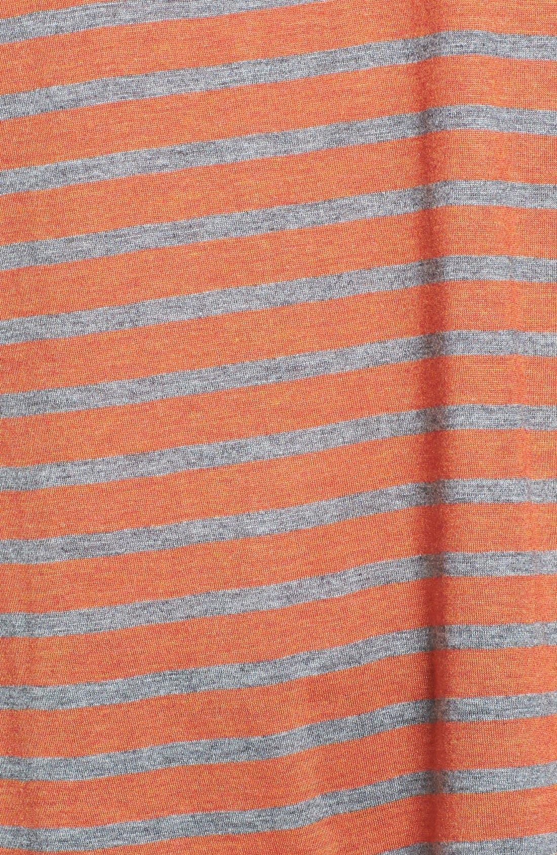 Alternate Image 3  - Hinge® Split Back Stripe Tee