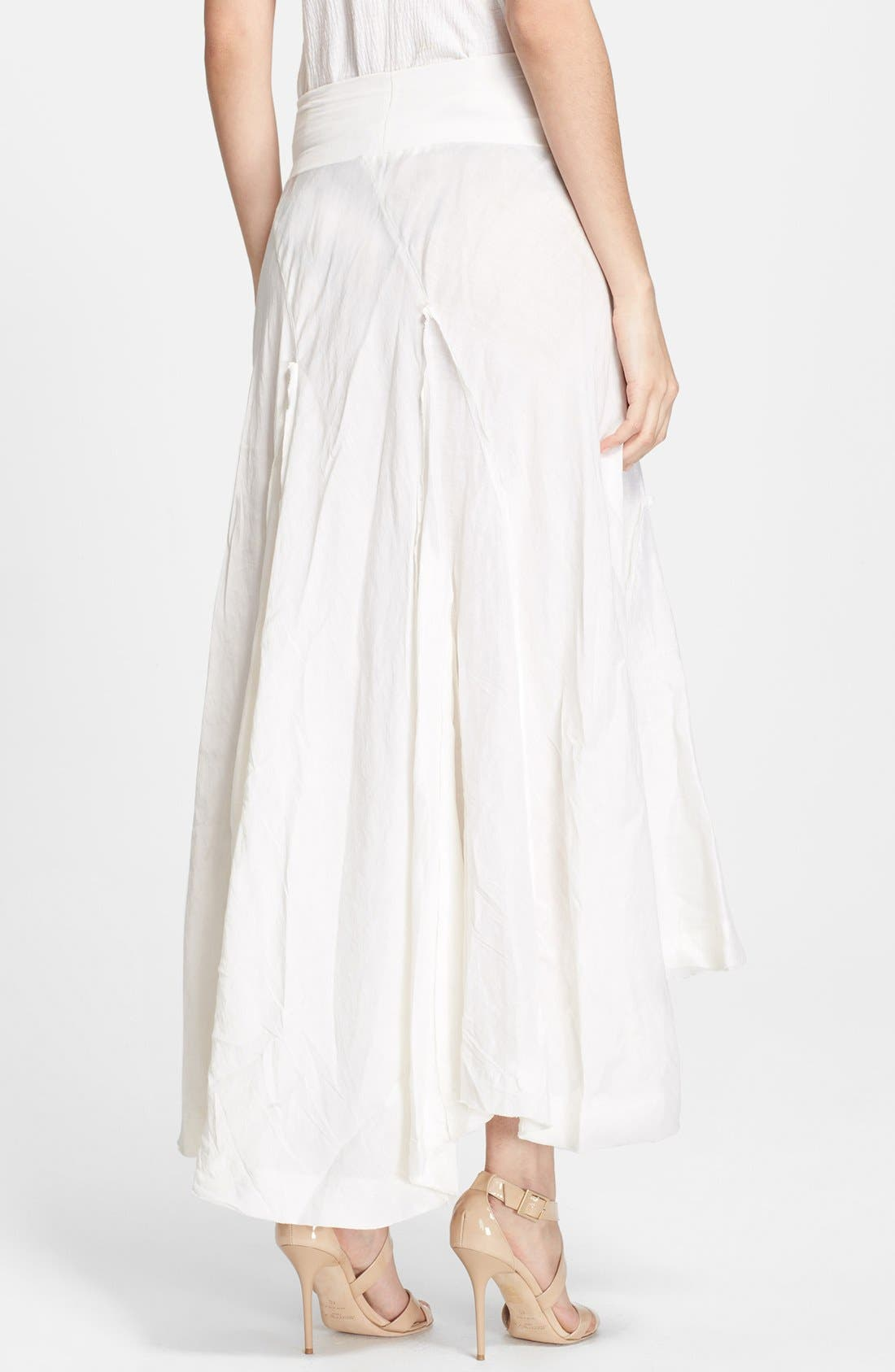 Alternate Image 2  - Donna Karan Collection Linen & Silk Midi Skirt
