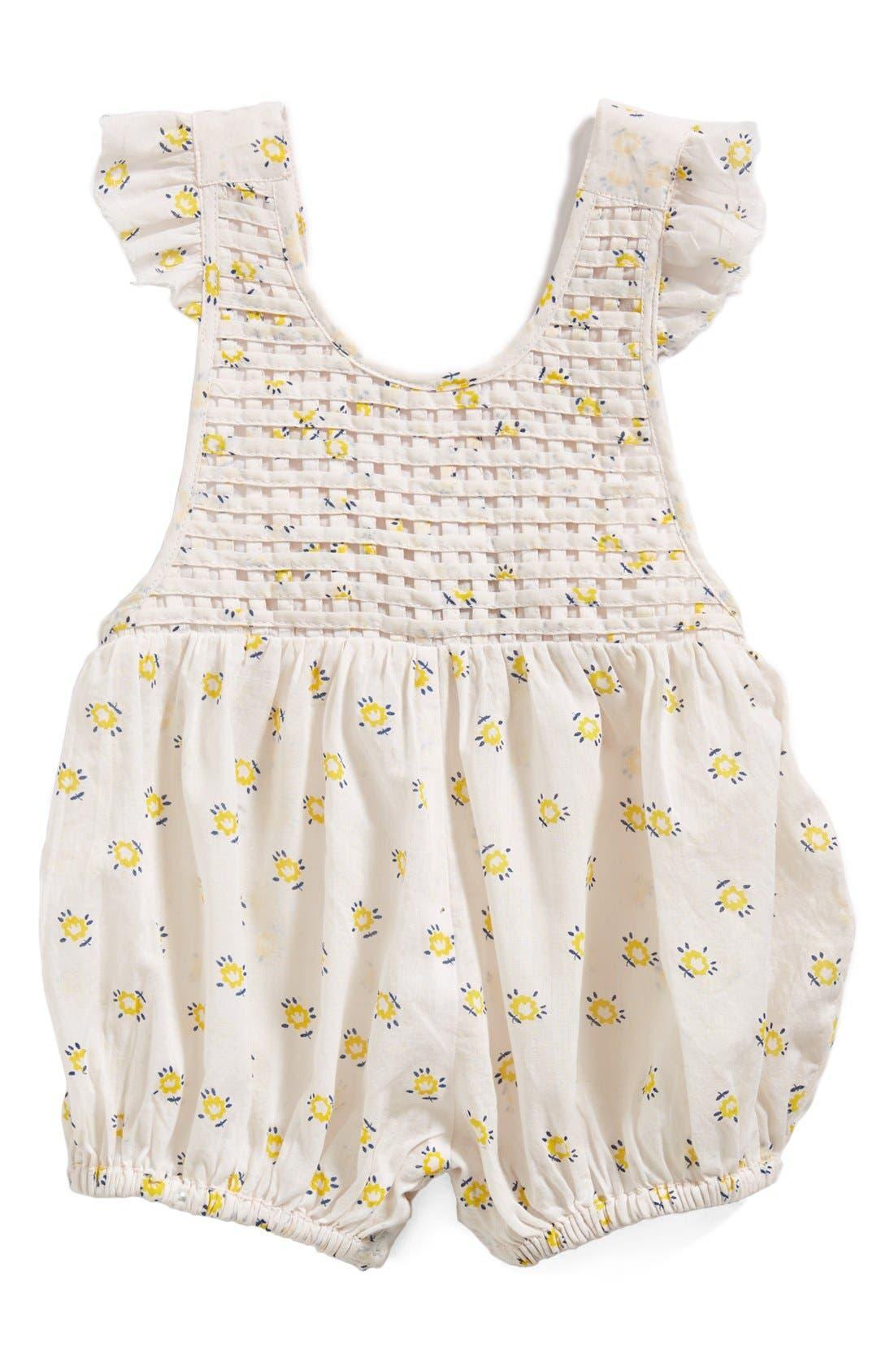 Main Image - Stella McCartney Kids Flower Print Romper (Baby Girls)