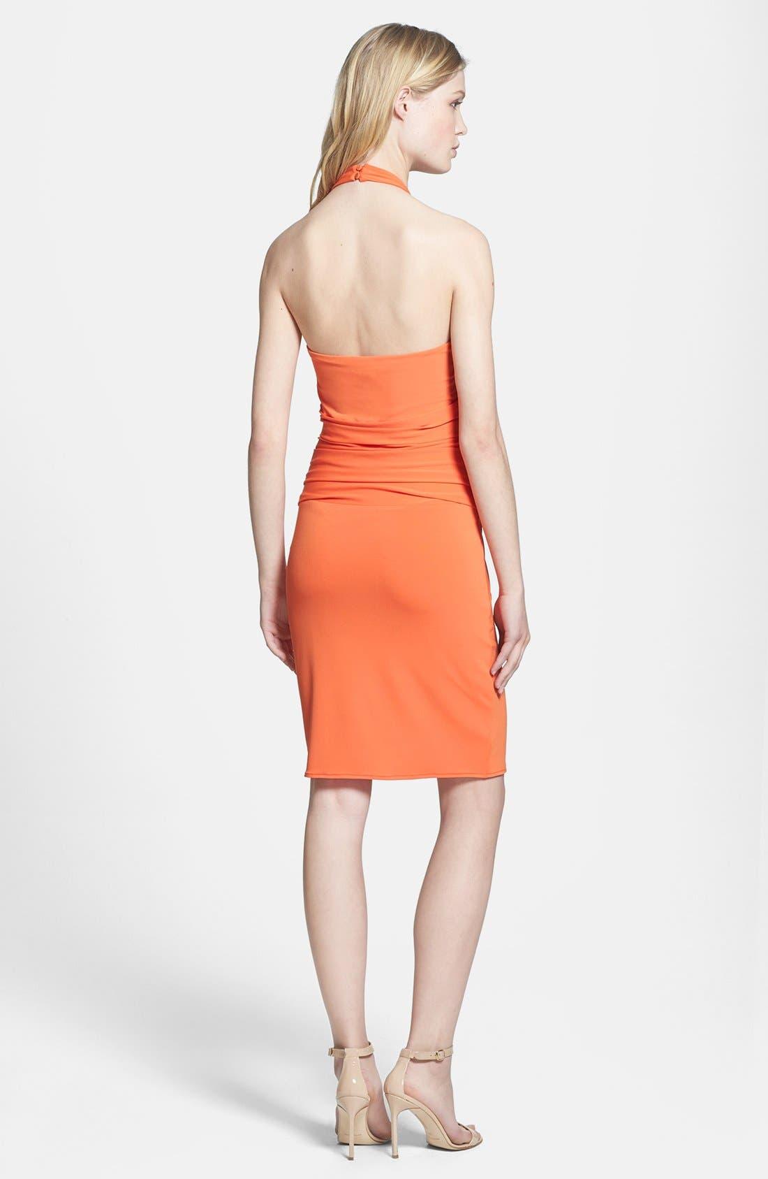 Alternate Image 3  - Halston Heritage Knotted V-Neck Jersey Dress