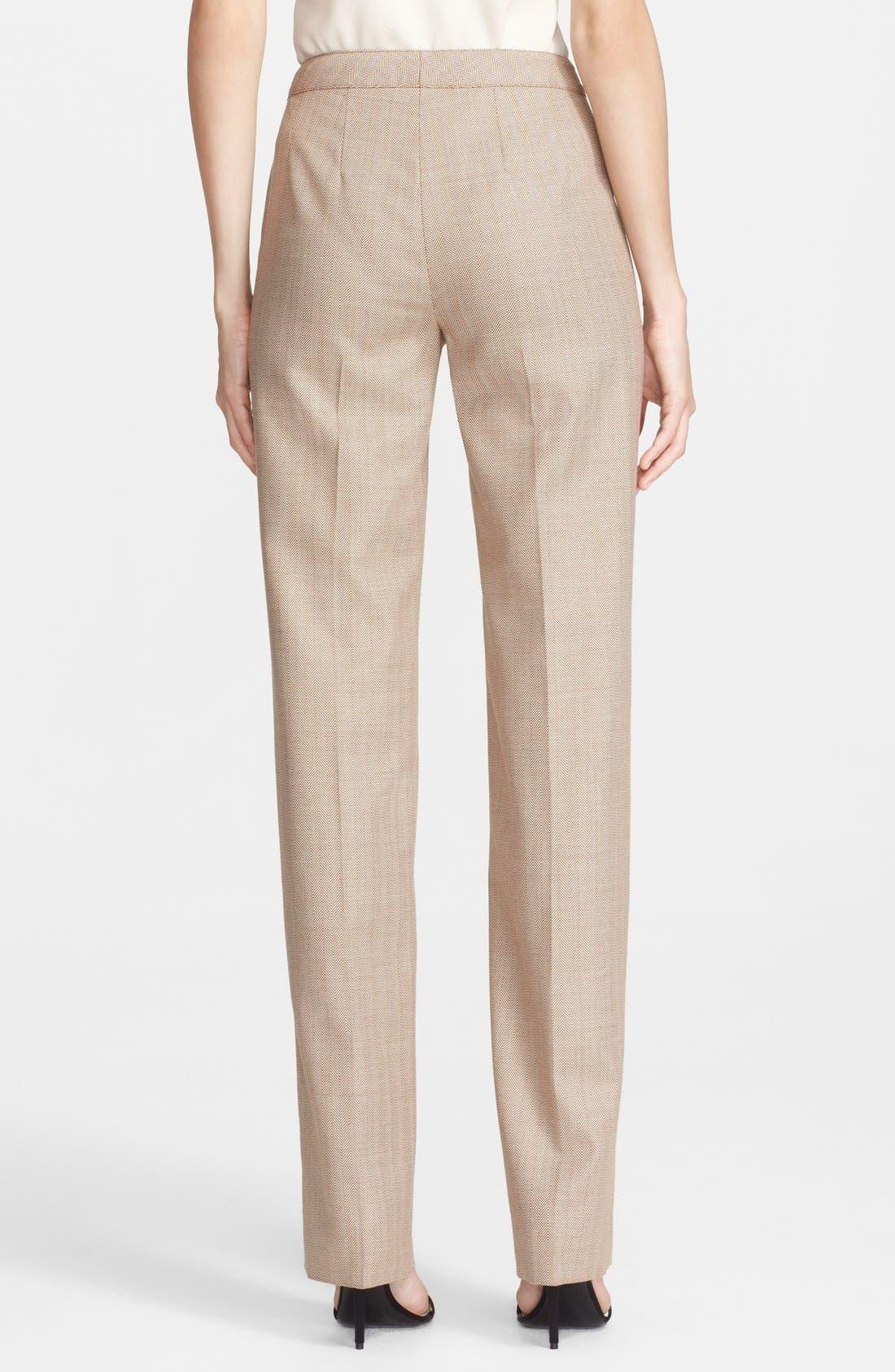 Alternate Image 4  - St. John Collection 'Diana - Chevron Suiting' Straight Leg Pants
