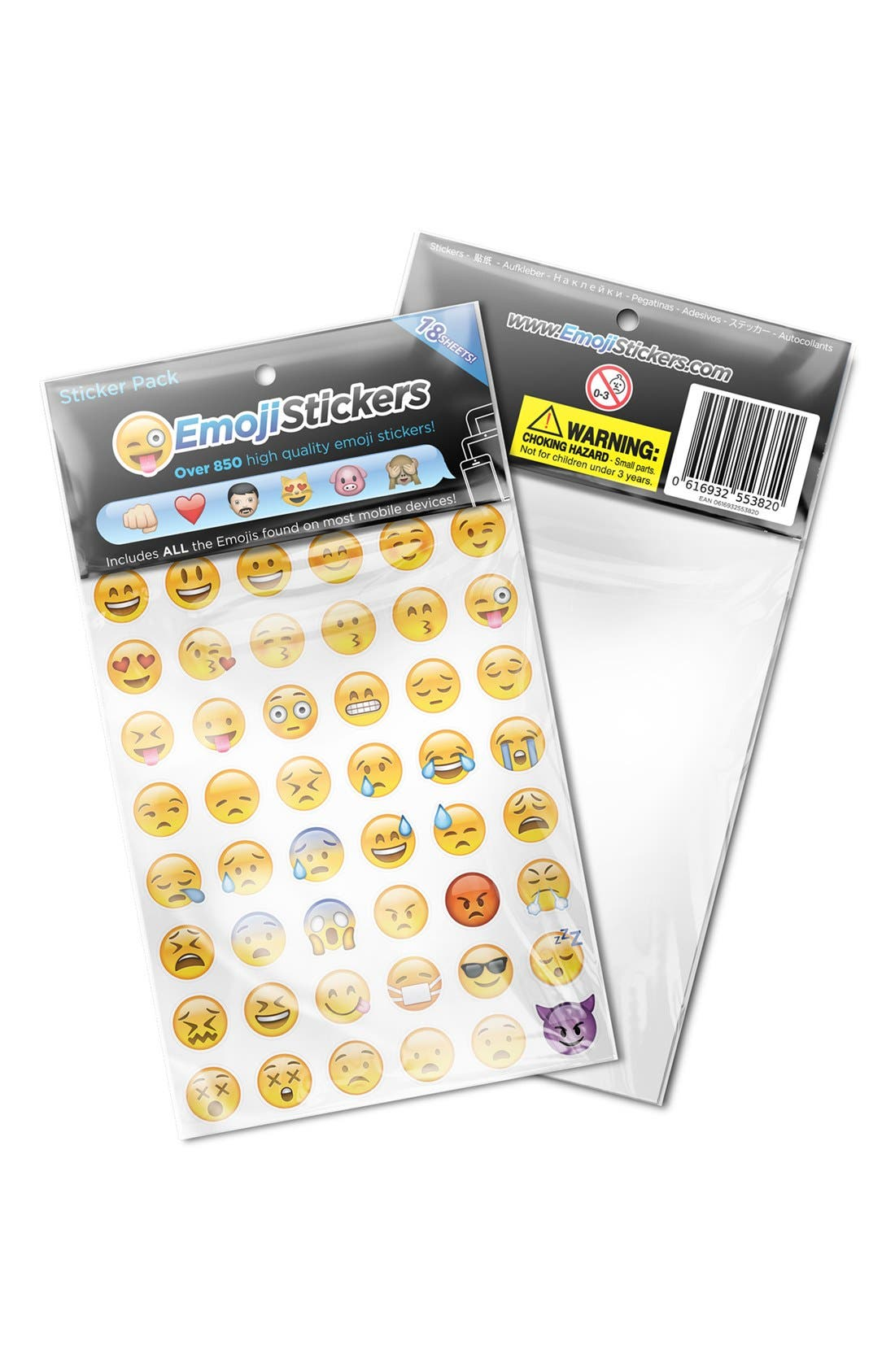 Alternate Image 2  - Emoji Sticker Pack Emoji Stickers (18-Pack)