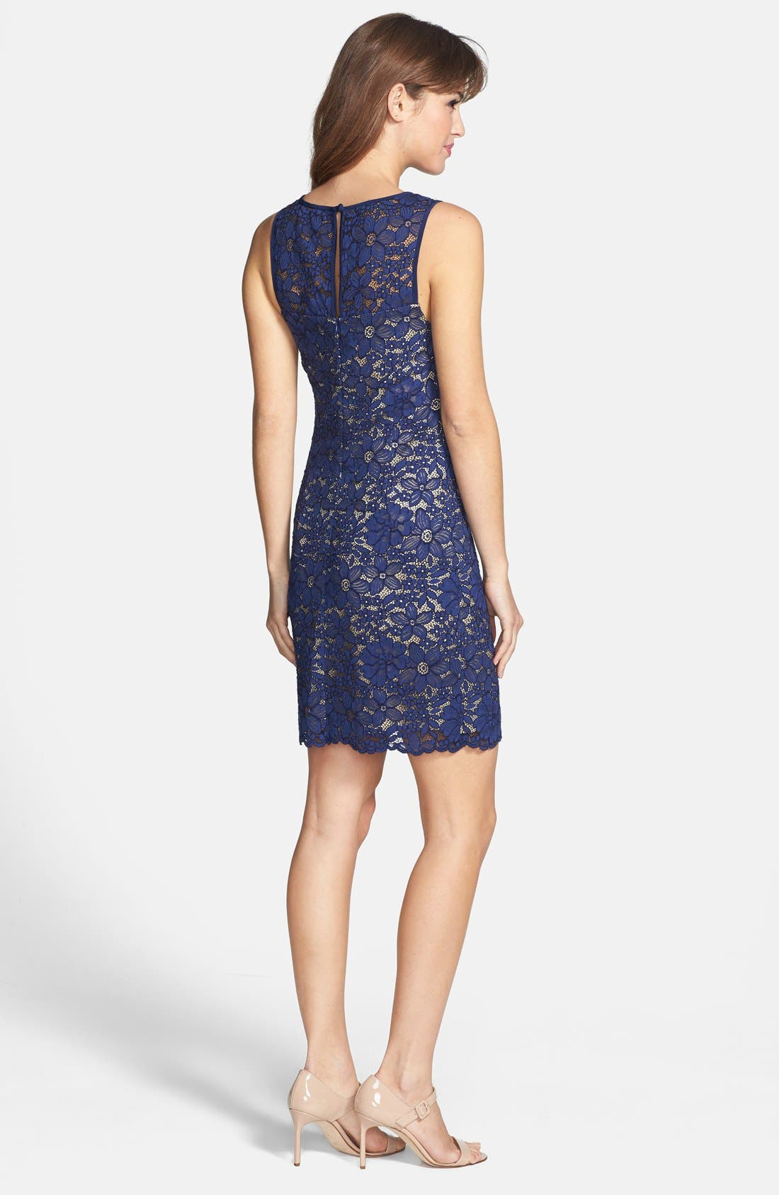Alternate Image 2  - Trina Turk 'Bissitti' Lace Sheath Dress