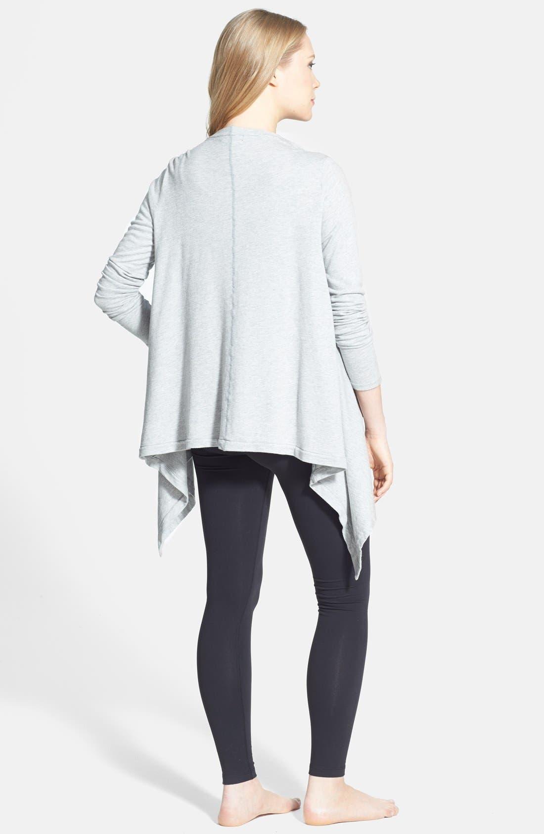 Alternate Image 4  - Beyond Yoga Drape Front Maternity Cardigan