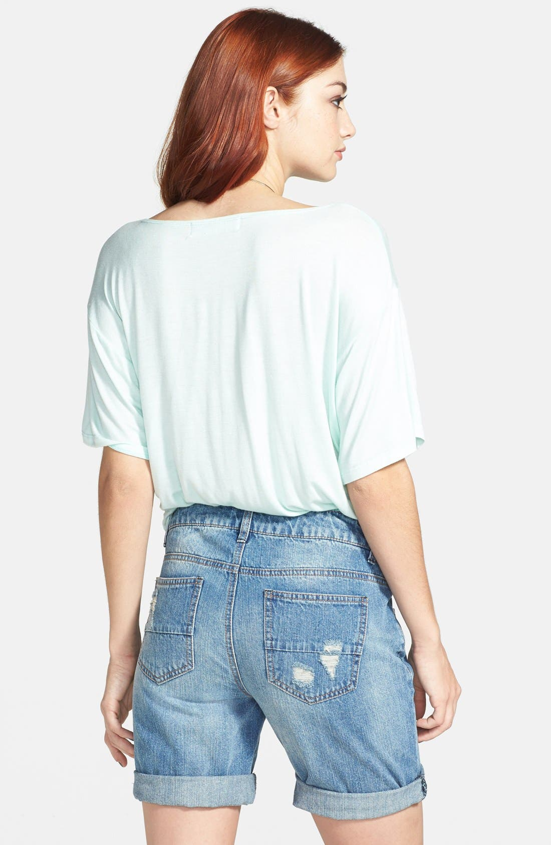 Alternate Image 2  - Fire Distressed Denim Boyfriend Shorts (Juniors)