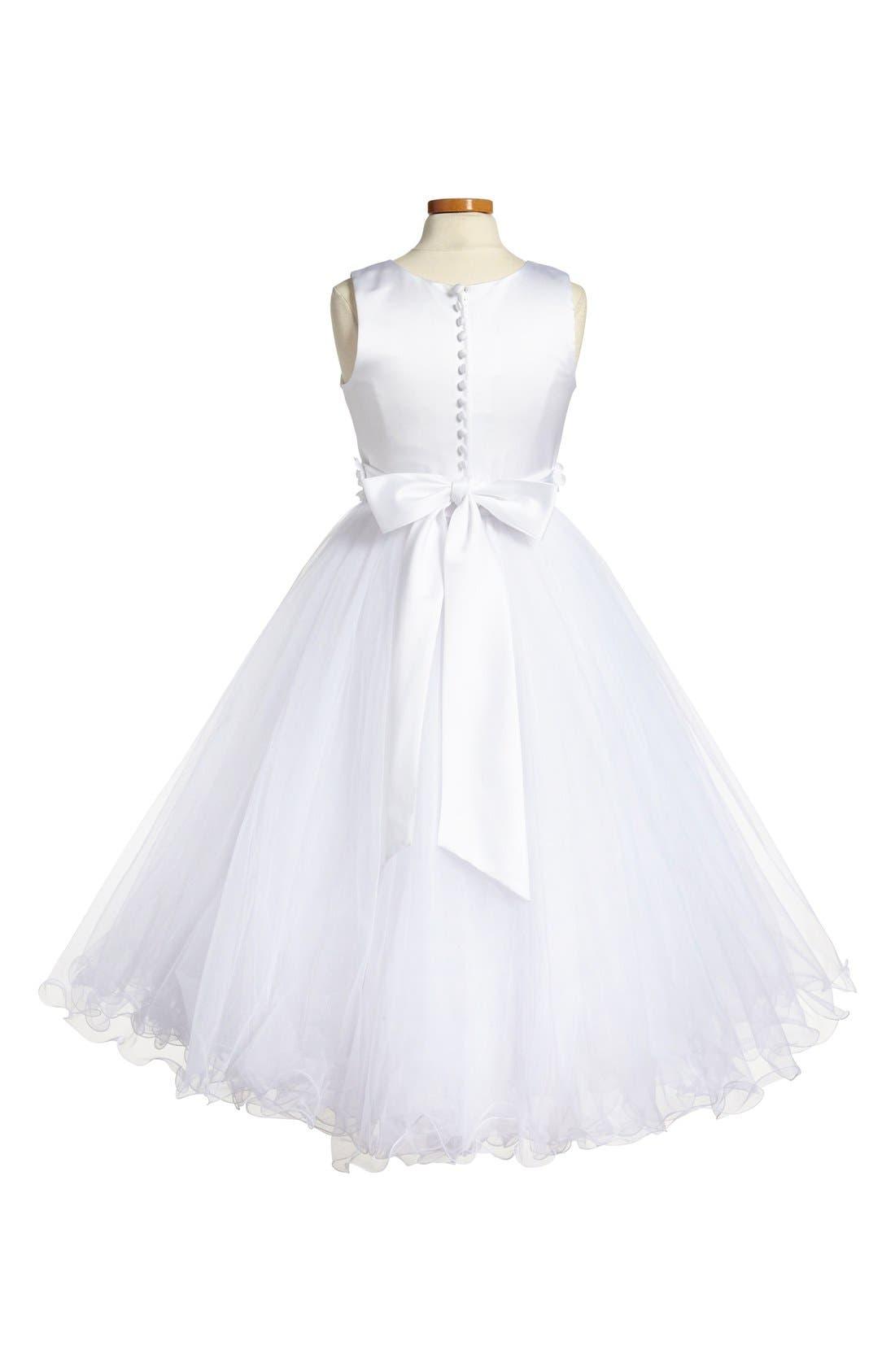 Alternate Image 2  - Joan Calabrese for Mon Cheri Sleeveless First Communion Dress (Little Girls & Big Girls)