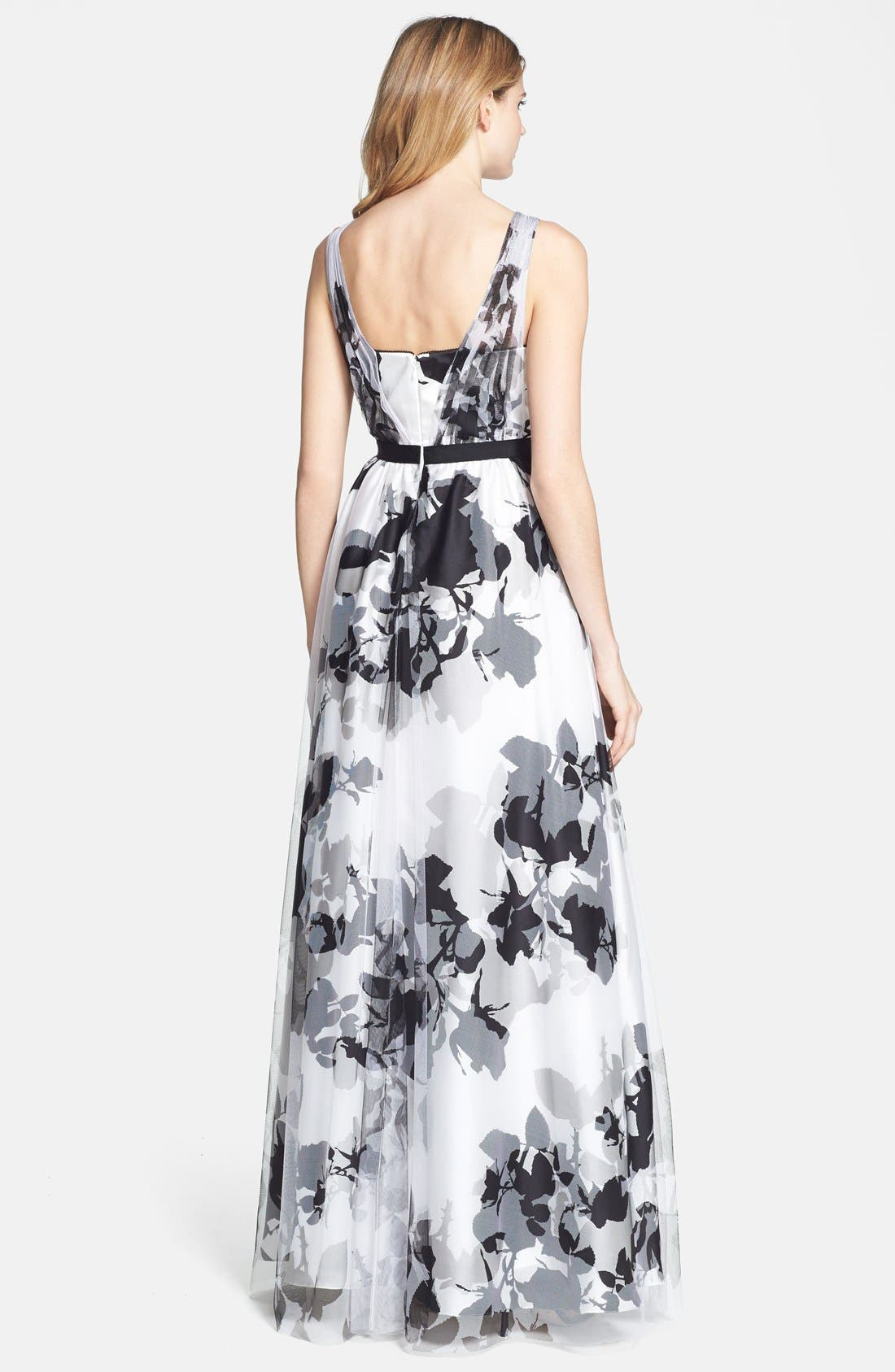 Alternate Image 2  - Adrianna Papell Floral Print Ball Gown