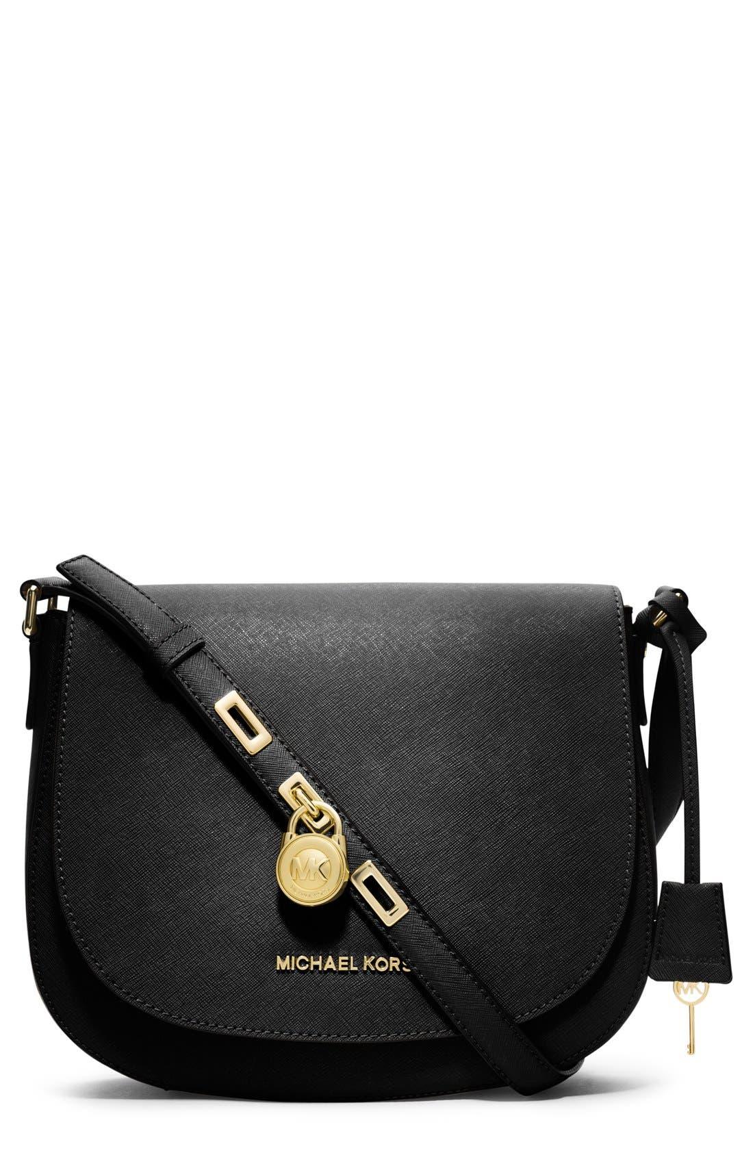 Alternate Image 1 Selected - MICHAEL Michael Kors 'Large' Saffiano Leather Messenger Bag
