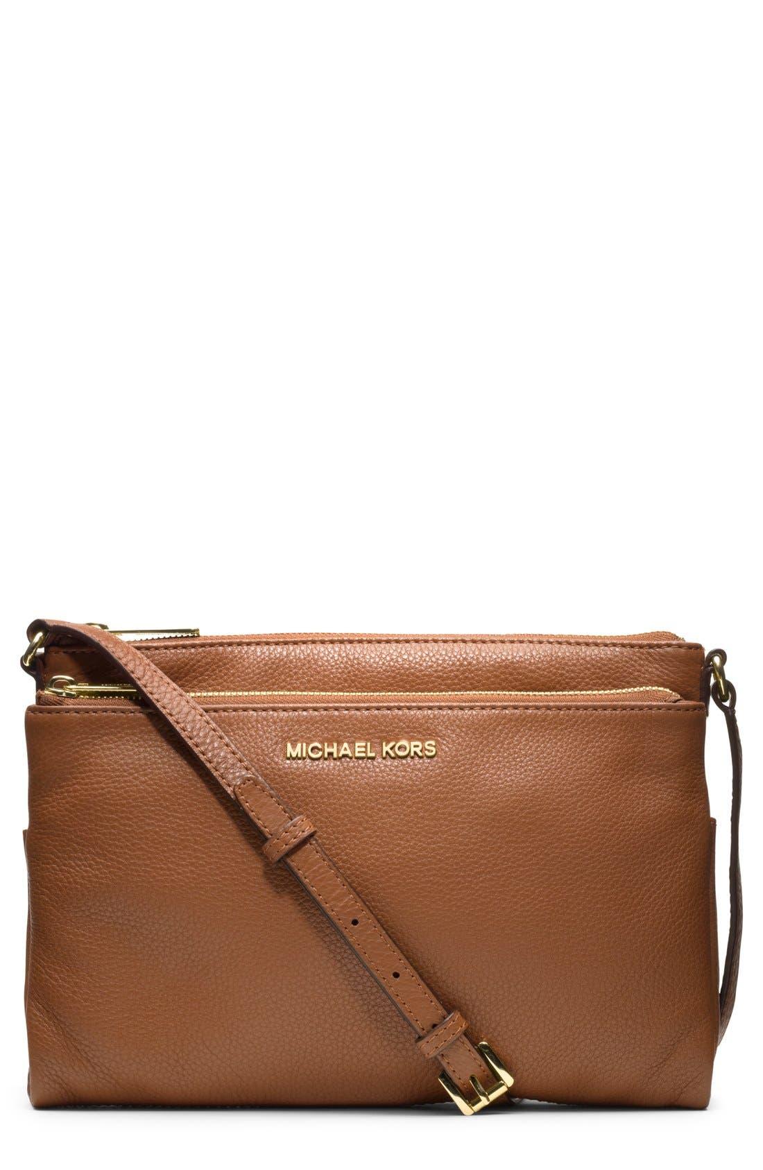 Alternate Image 1 Selected - MICHAEL Michael Kors Leather Crossbody Bag