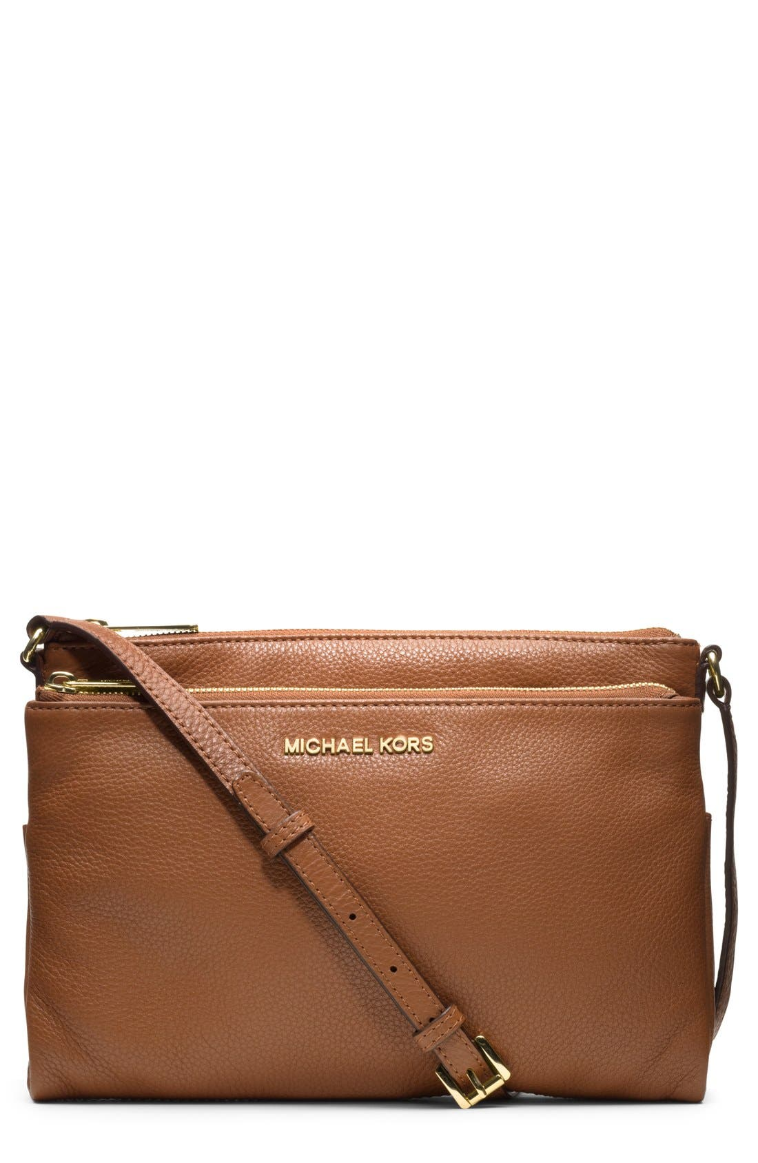 Main Image - MICHAEL Michael Kors Leather Crossbody Bag