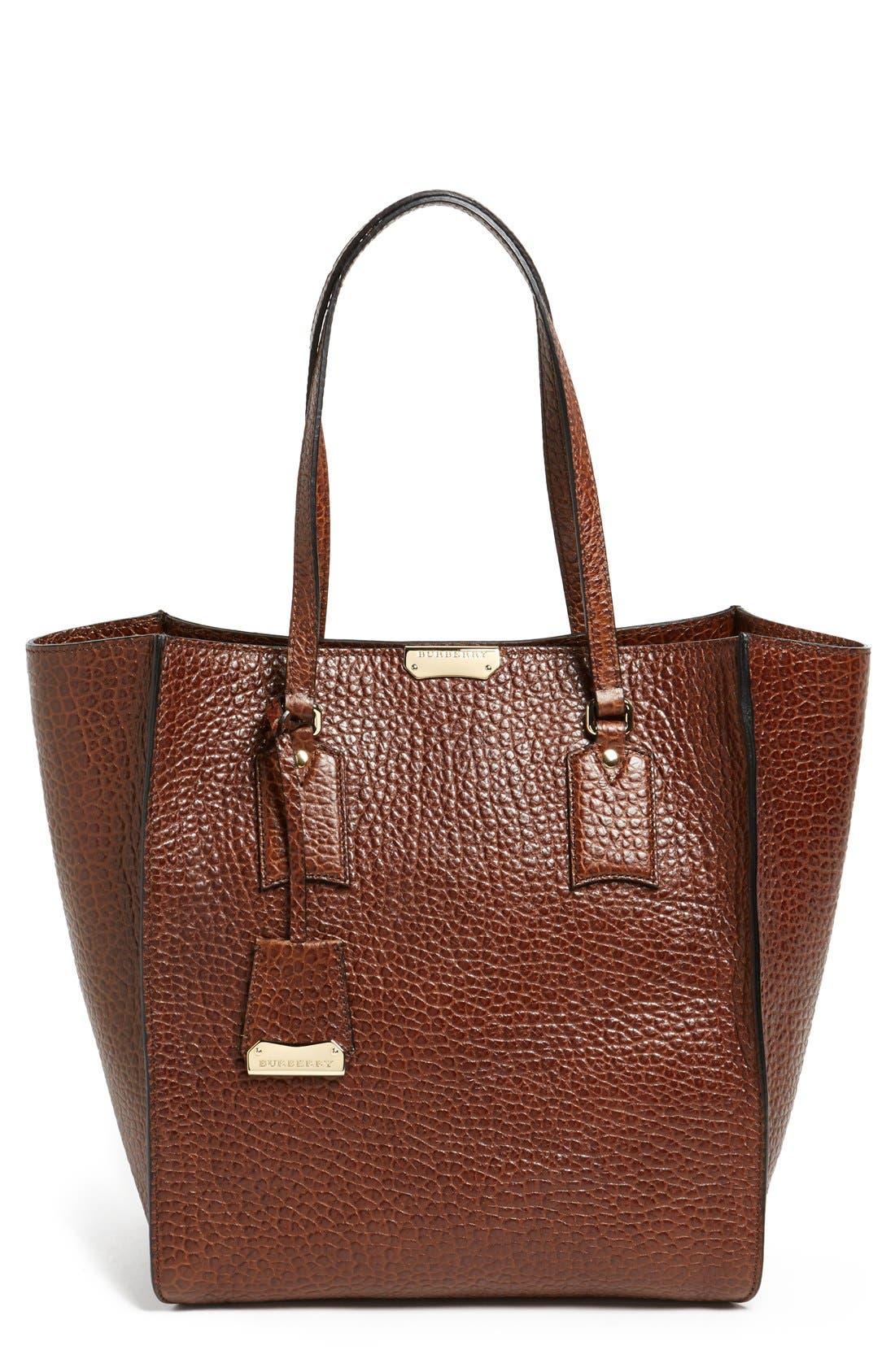 Alternate Image 1 Selected - Burberry 'Woodbury - Medium' Leather Tote