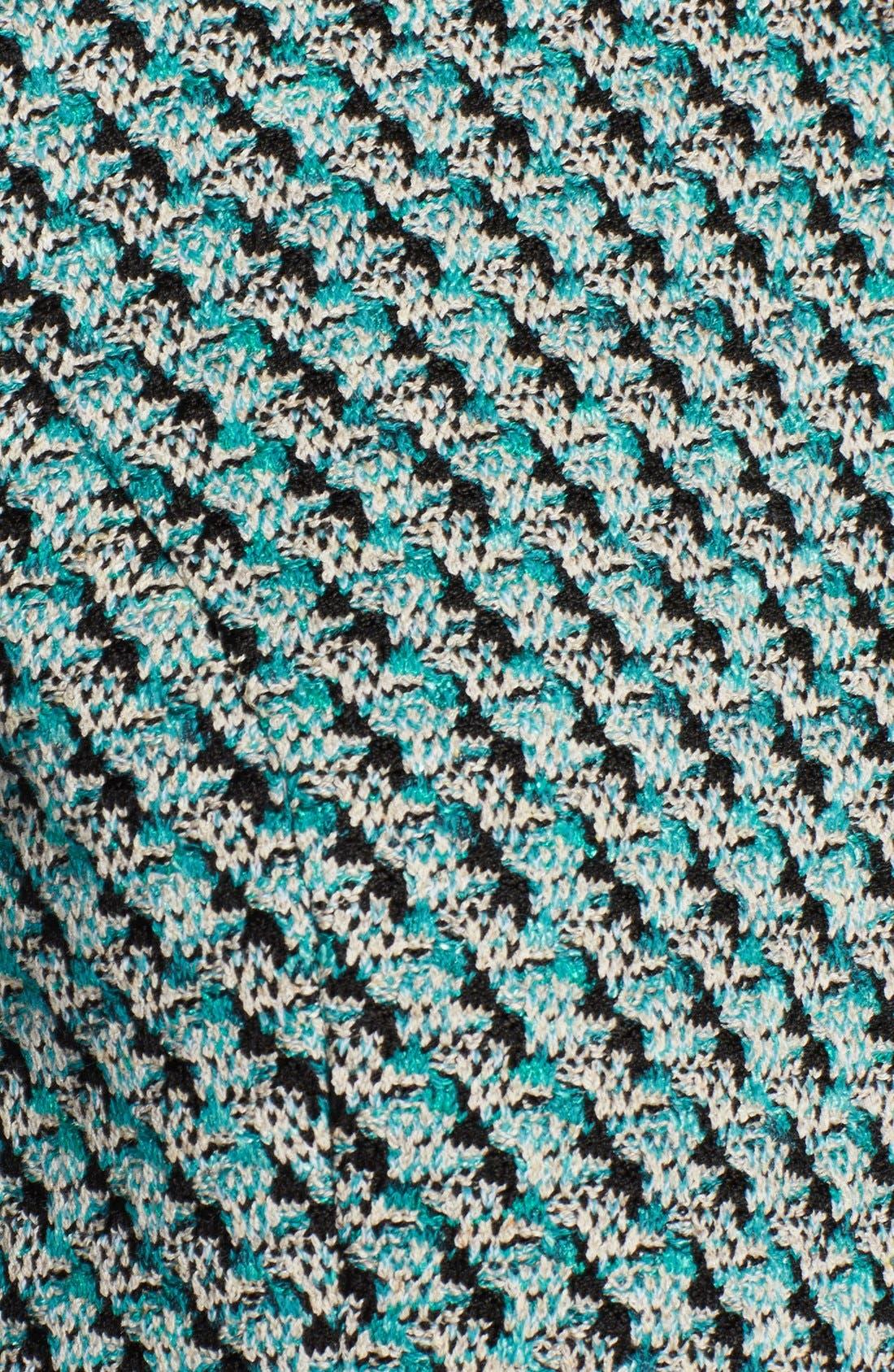 Alternate Image 3  - St. John Collection Broken Houndstooth Tweed & Milano Knit Zip Jacket