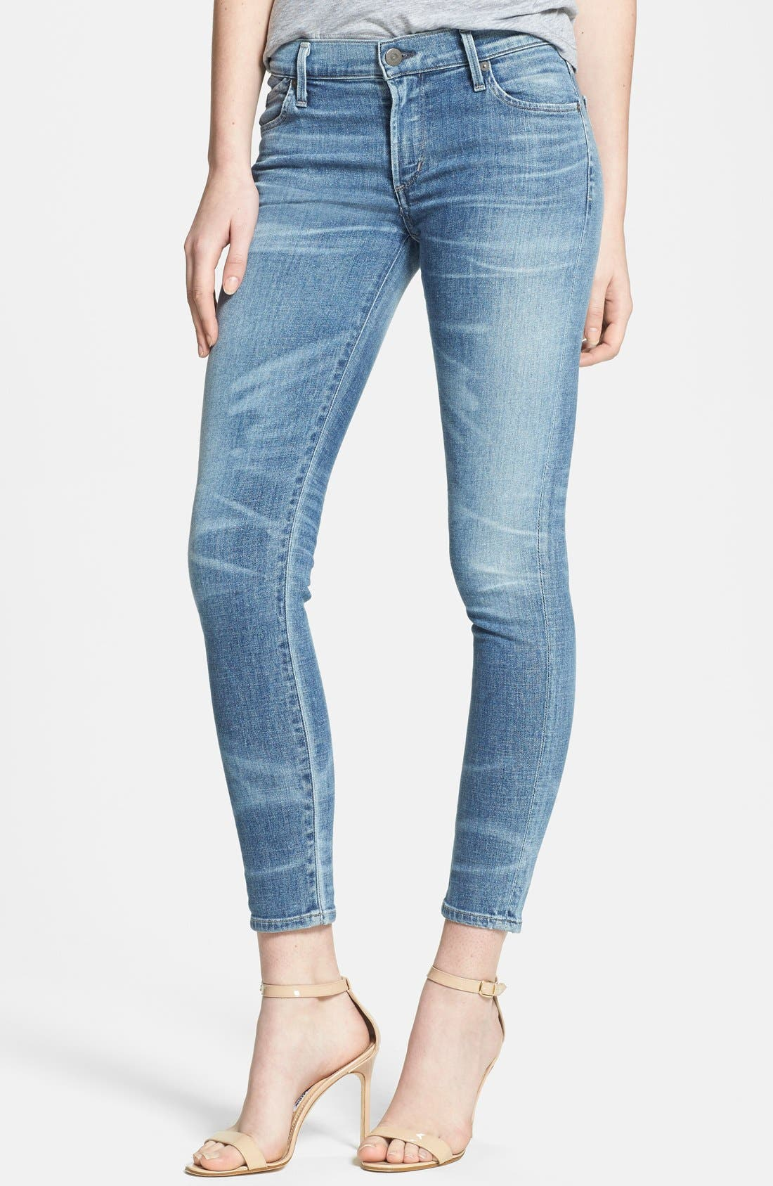 Main Image - Citizens of Humanity Whiskered Skinny Ankle Jeans (Belize)