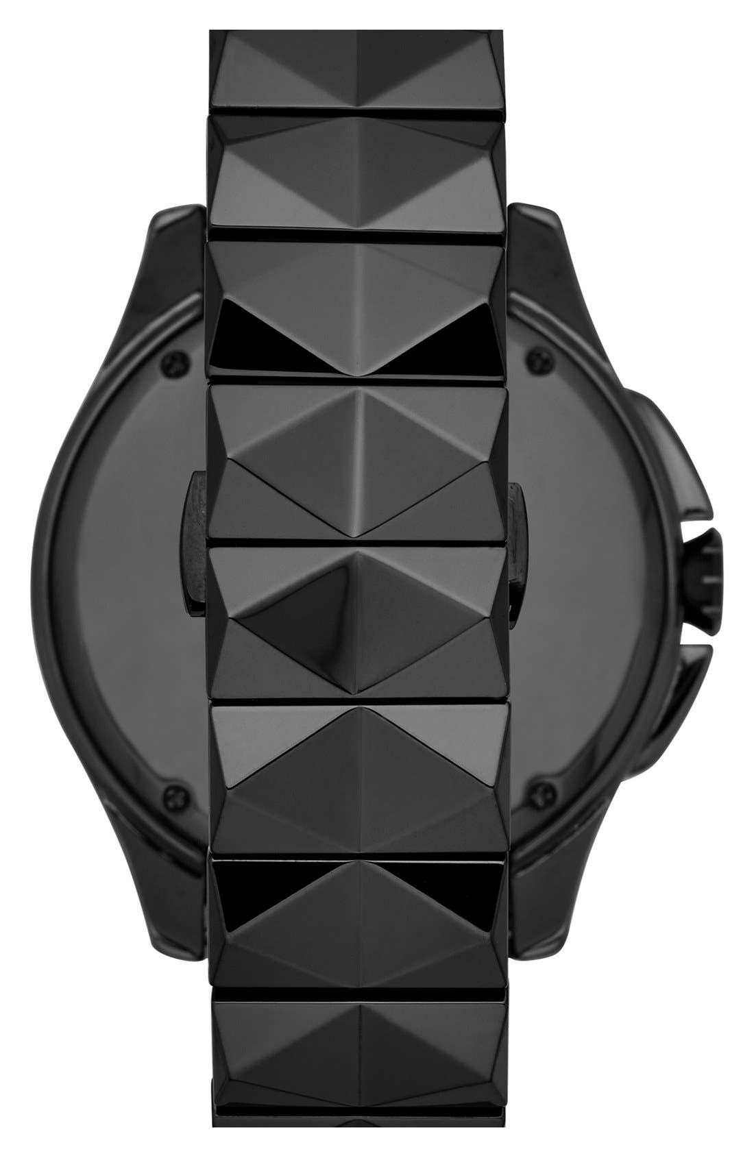 Alternate Image 2  - KARL LAGERFELD '7' Beveled Bezel Ceramic Bracelet Watch, 44mm