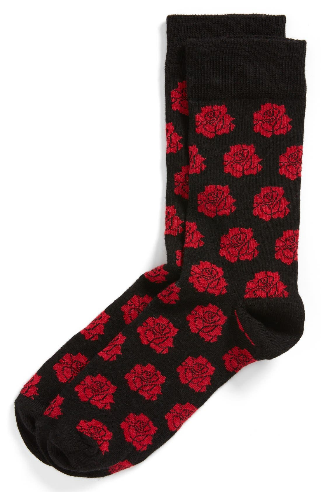 Alternate Image 1 Selected - Topman Rose Pattern Socks