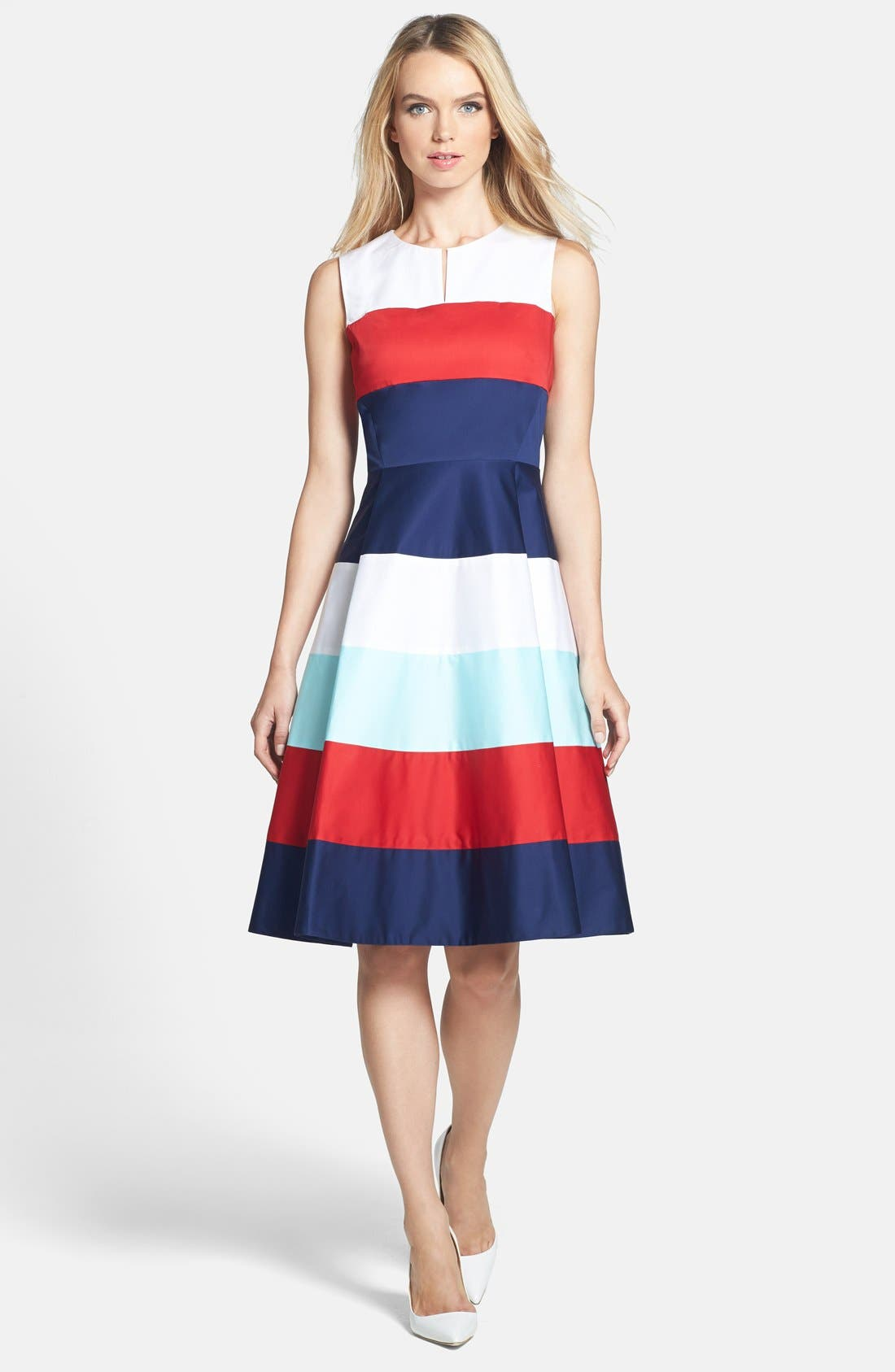 Main Image - kate spade new york 'corley' stretch cotton fit & flare dress