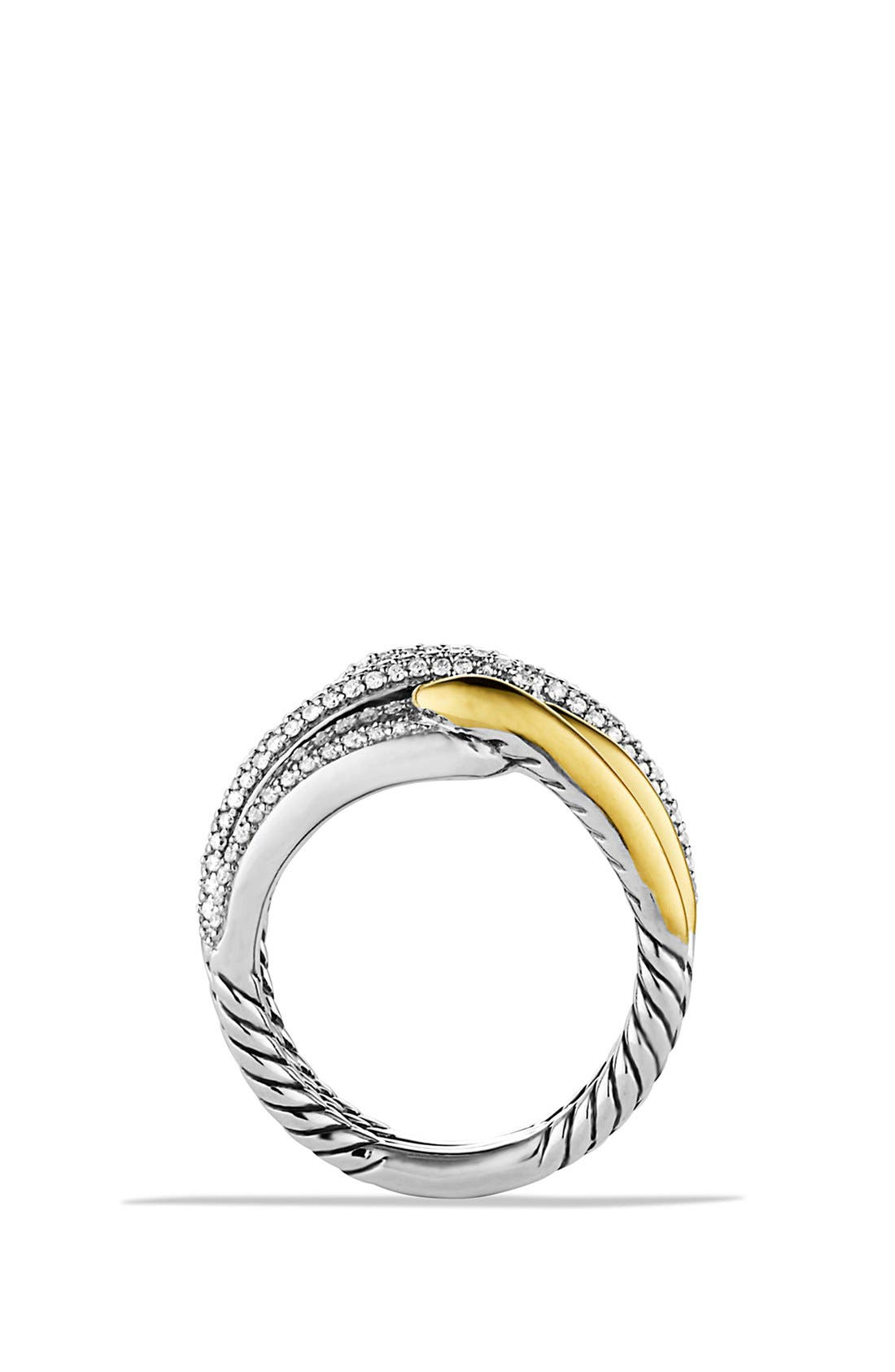 Alternate Image 4  - David Yurman 'Labyrinth' Double Loop Ring with Diamonds and Gold