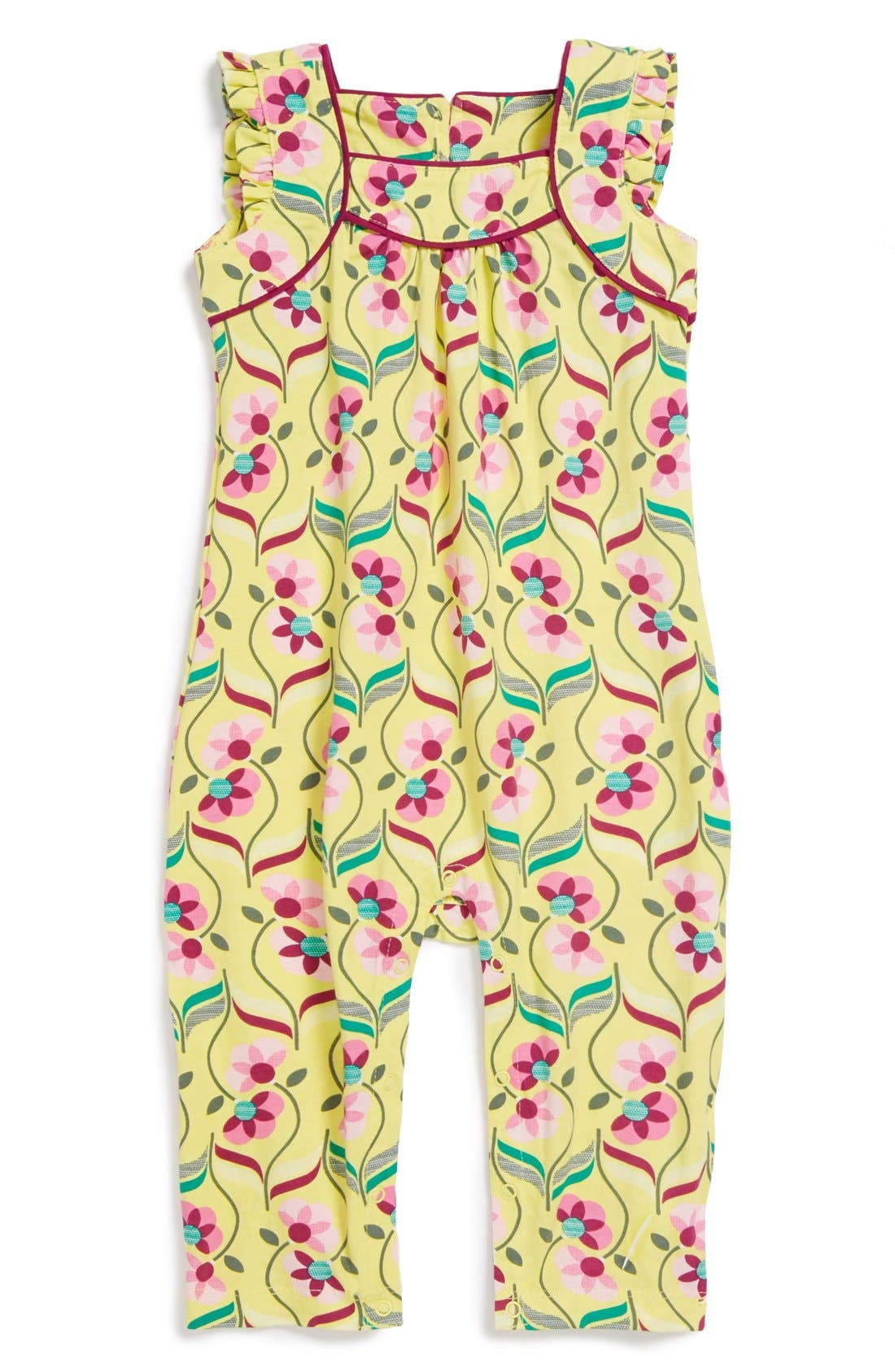 Main Image - Tea Collection 'Souq' Floral Print Romper (Baby Girls)