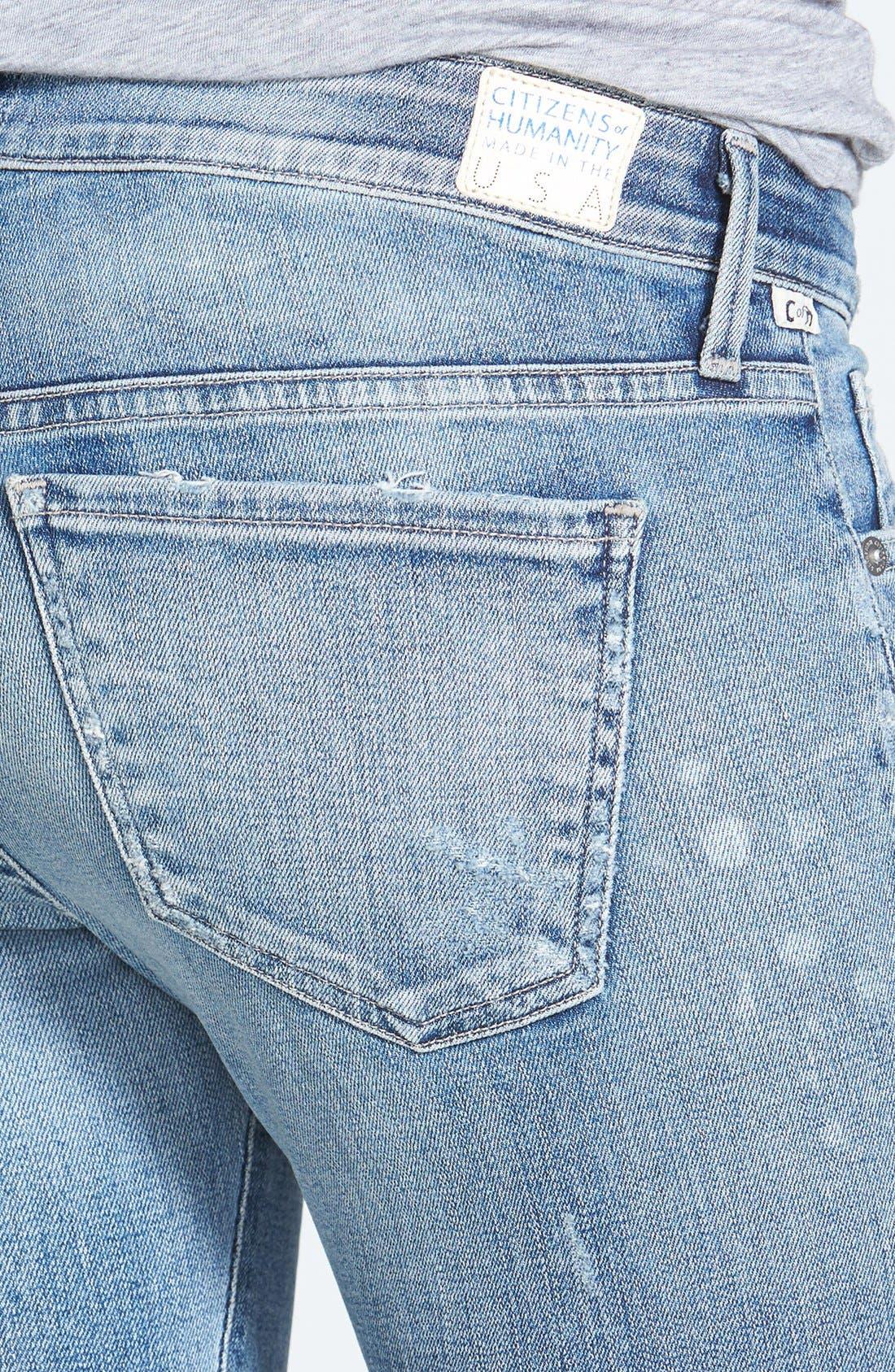 Alternate Image 3  - Citizens of Humanity 'Premium Vintage - Racer' Distressed Skinny Jeans (Crosby)